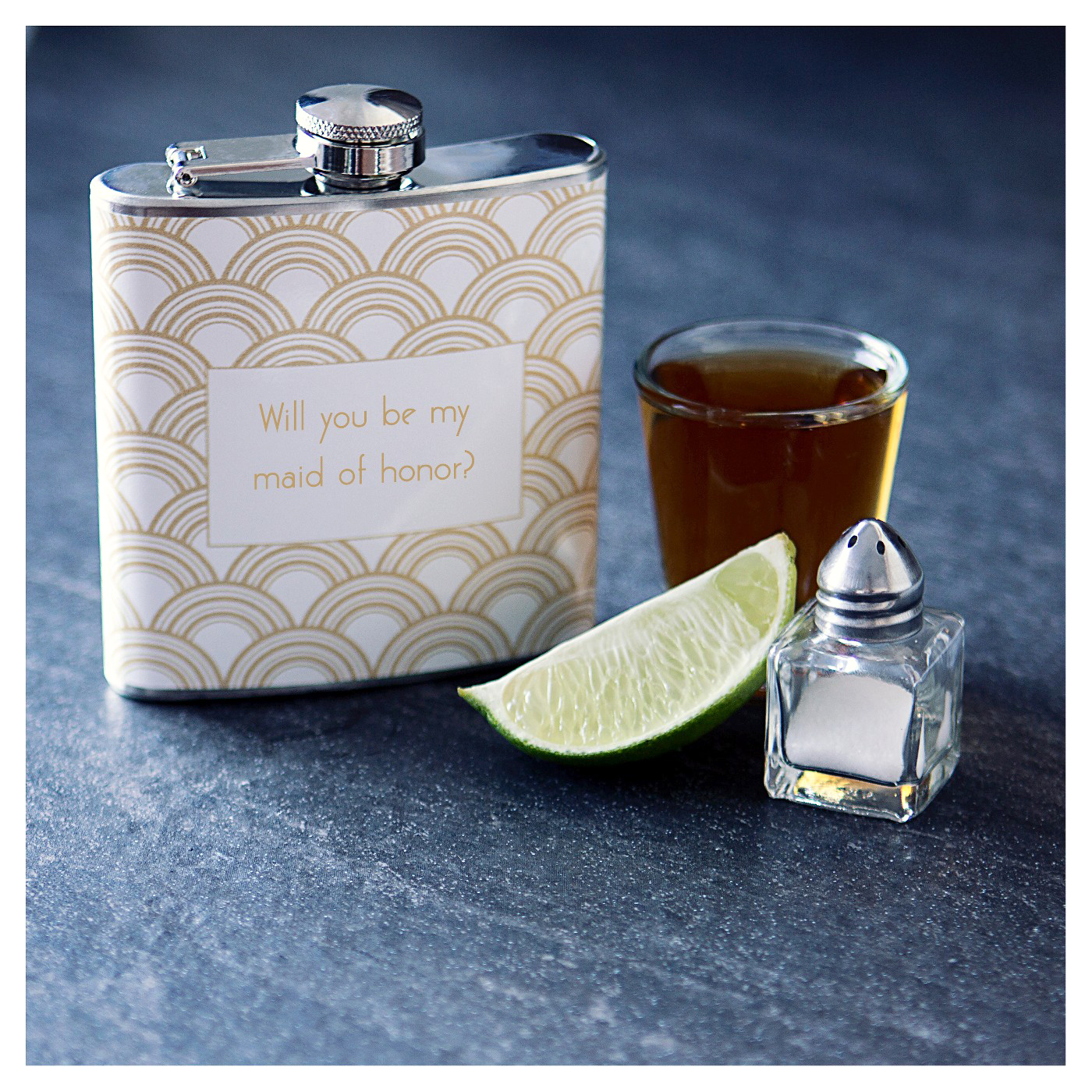 maid of honor proposal flask