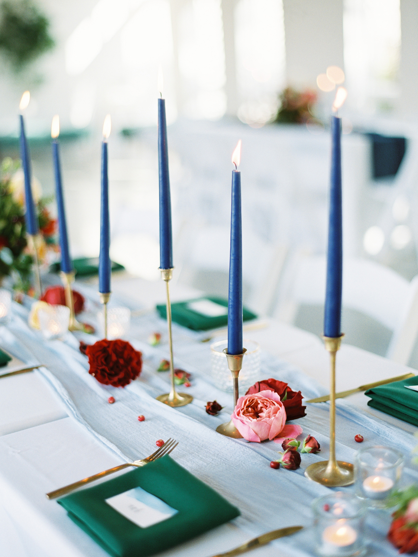 Peach, Green, and Gold Tablescape