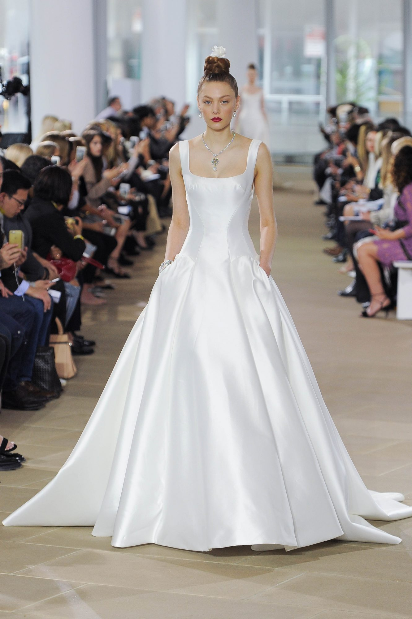 ines di santo broad strap trumpet wedding dress spring 2018