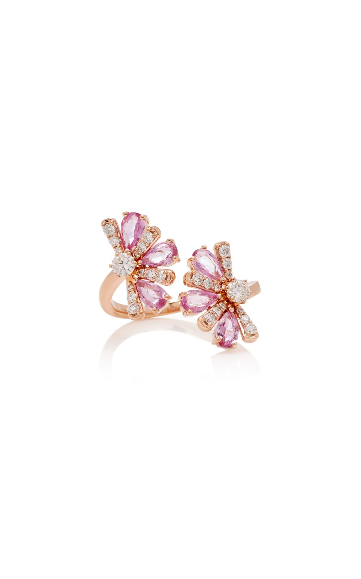 Rose Gold, Sapphire, and Diamond Ring