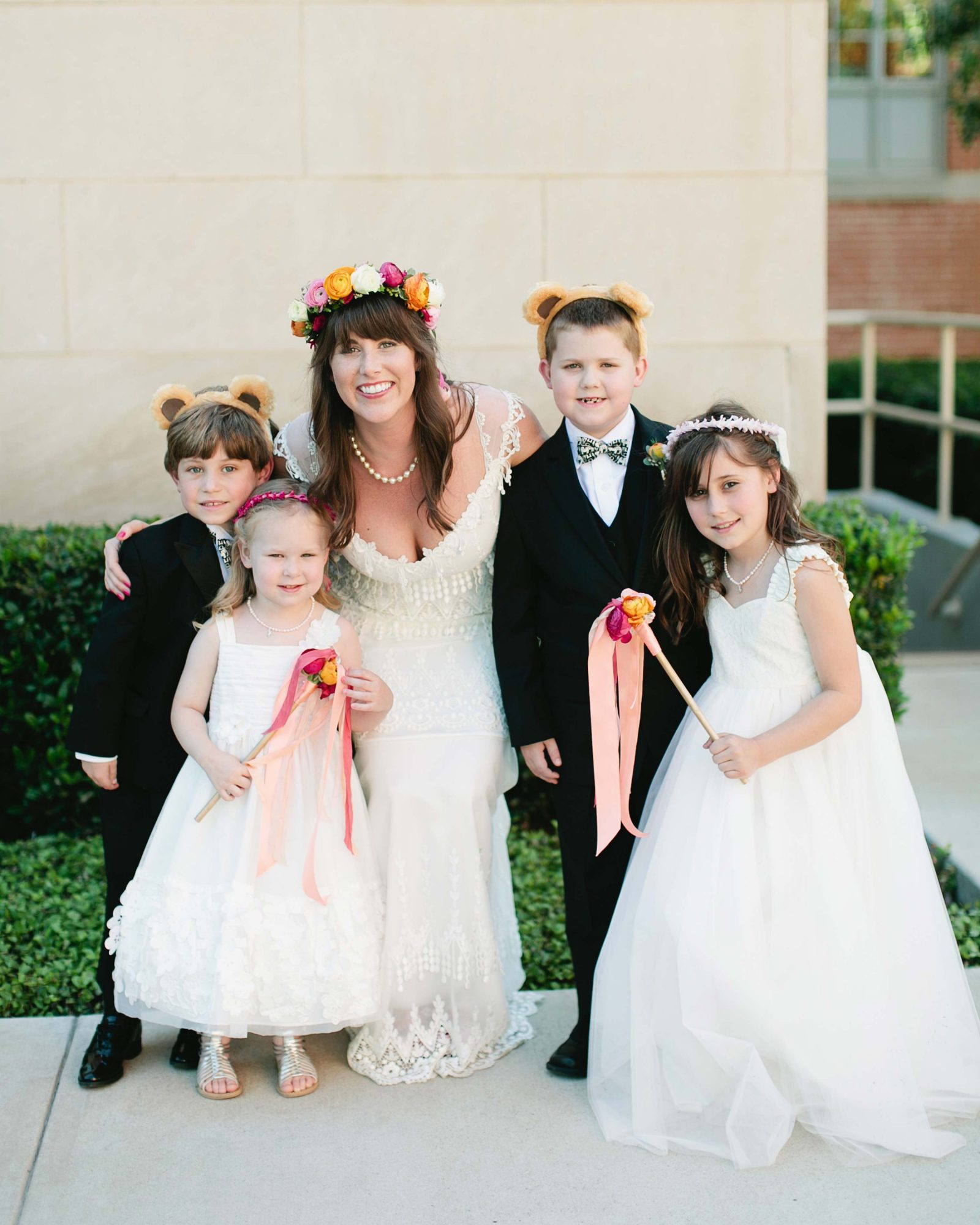 The Flower Girls and Ring  Bears