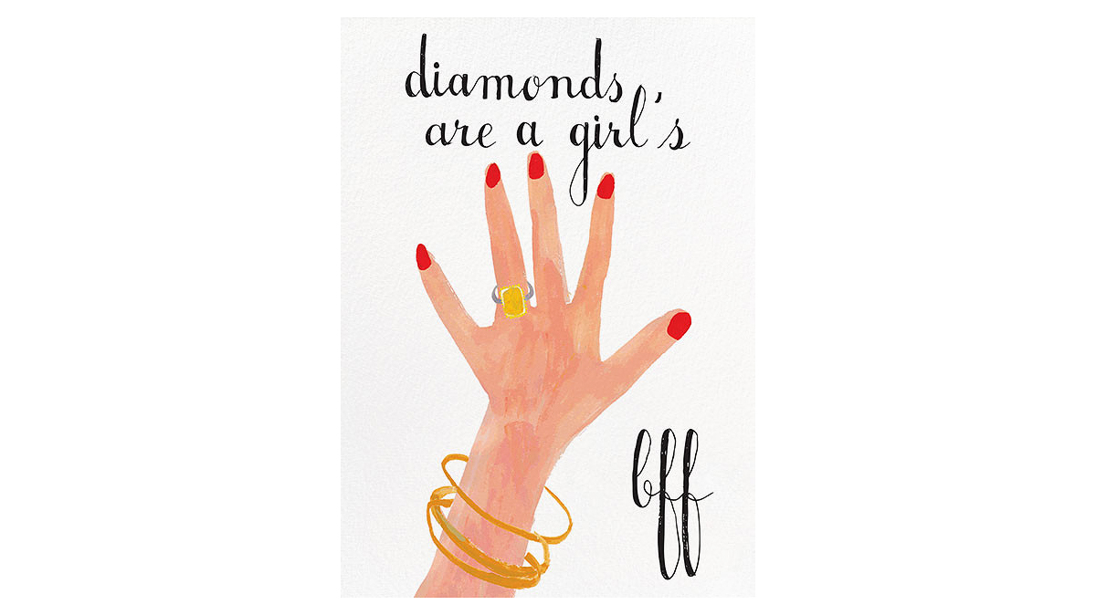 paperless engagement party invite diamonds are a girl's bff