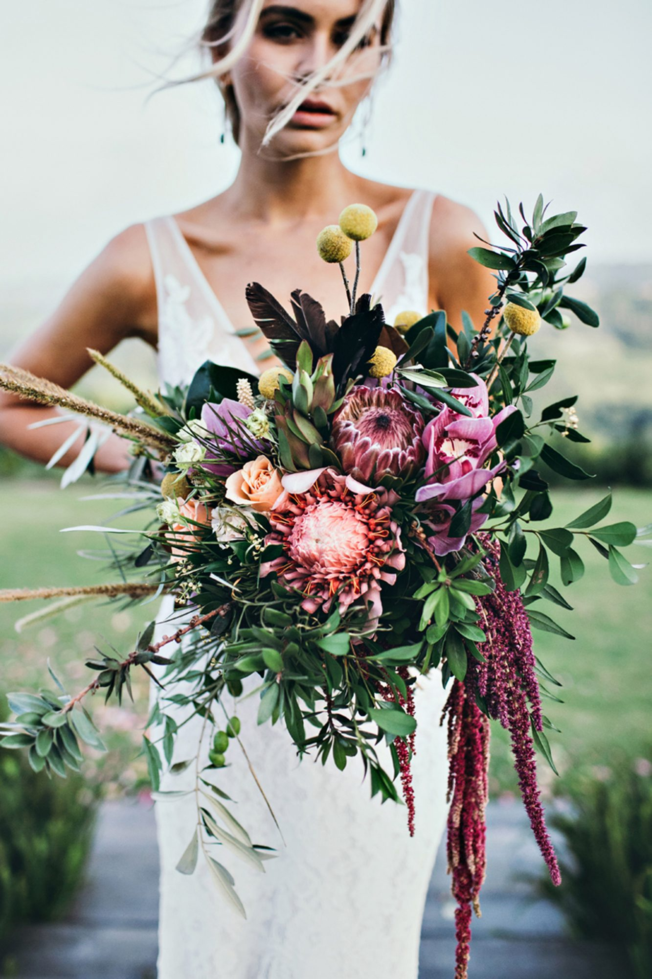 protea wedding bouquets ivy road photography