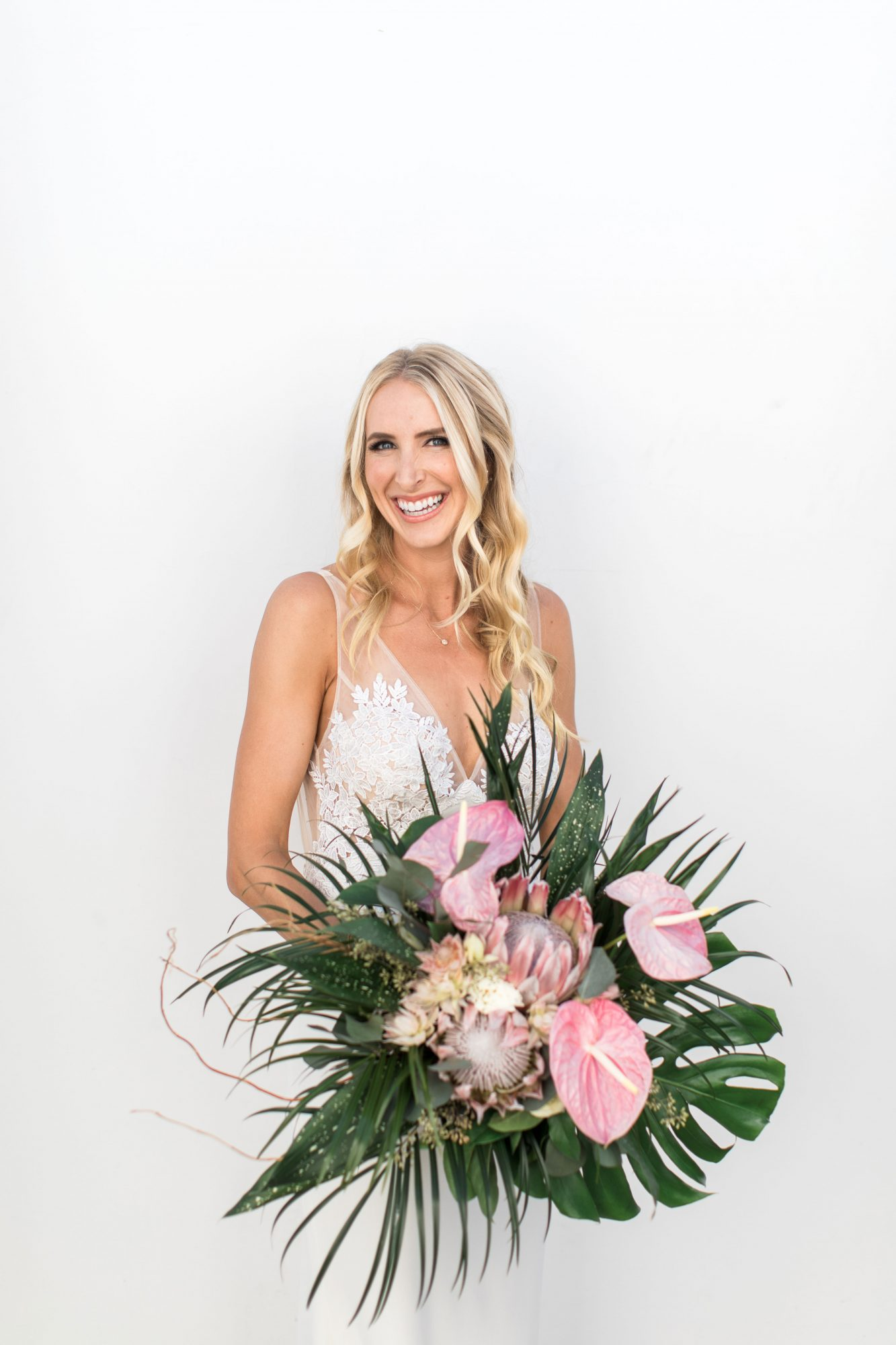 protea wedding bouquets loie photography