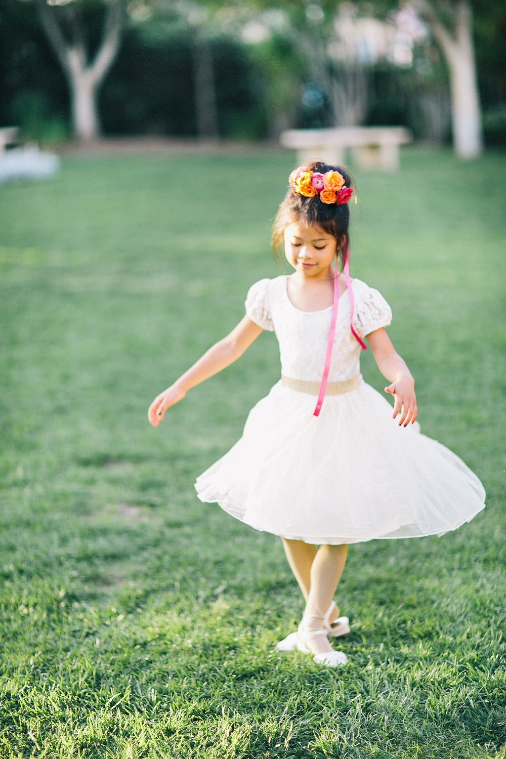 twirling flower girl