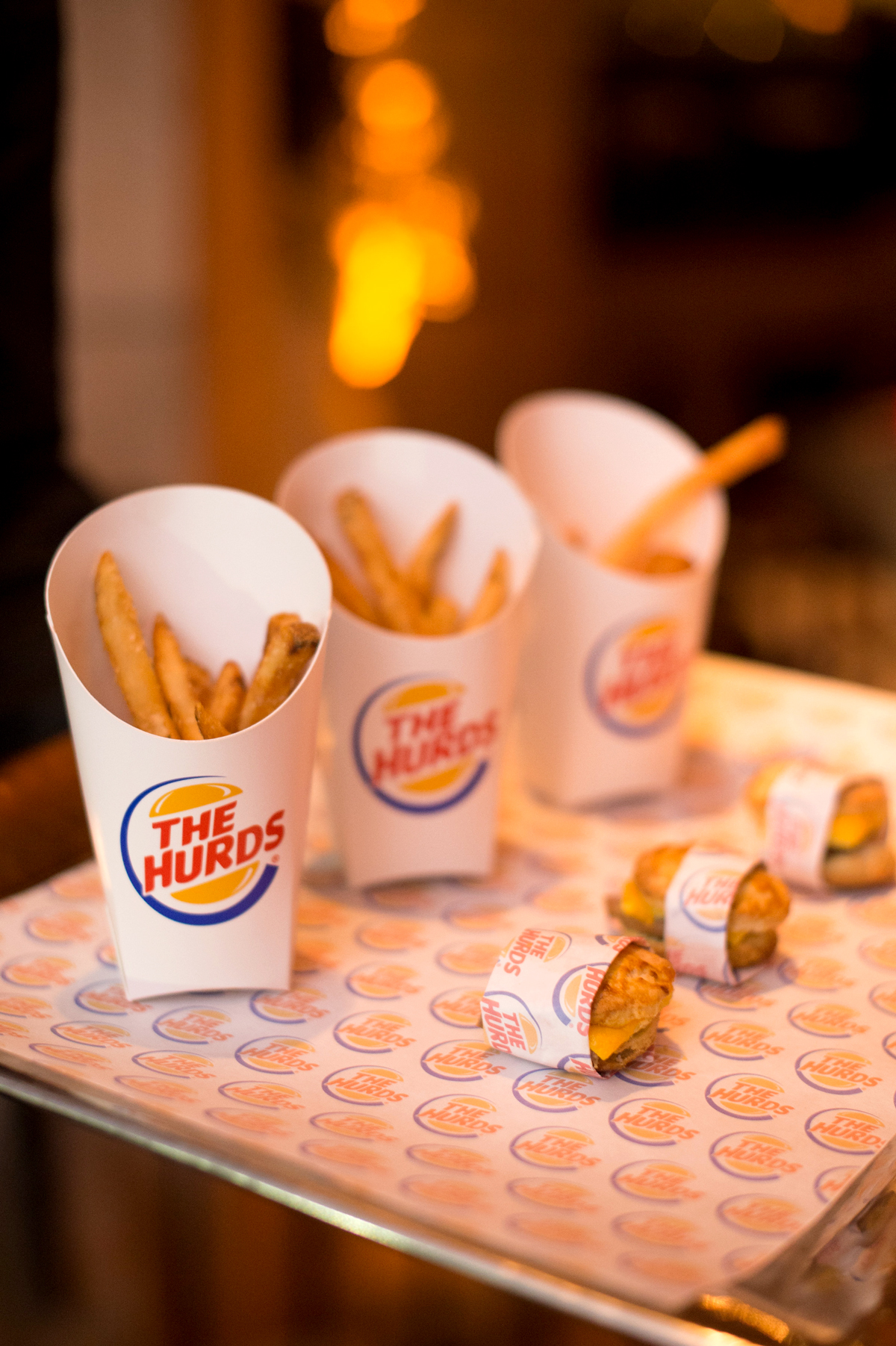 french fries and sliders
