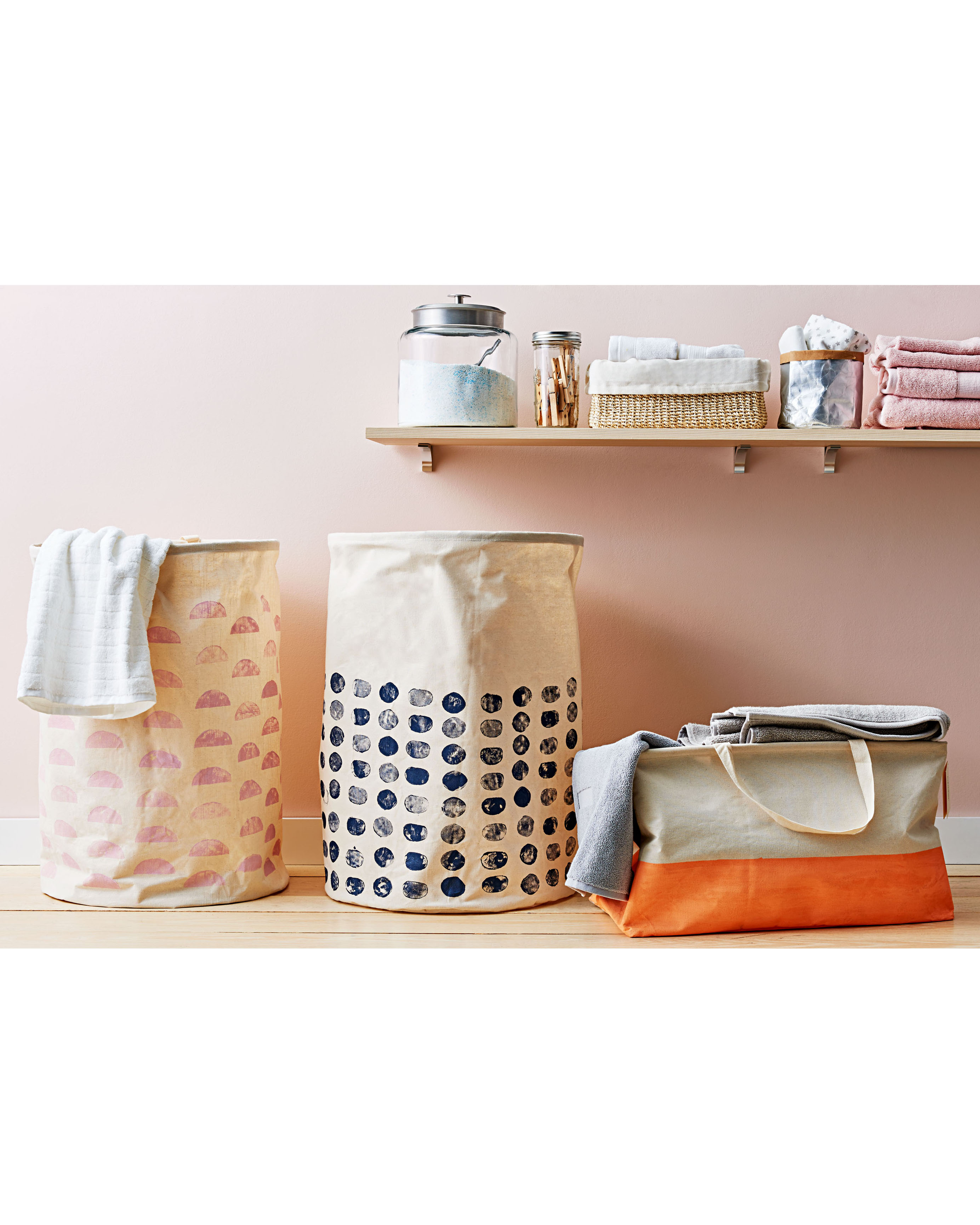 canvas laundry bags and tote