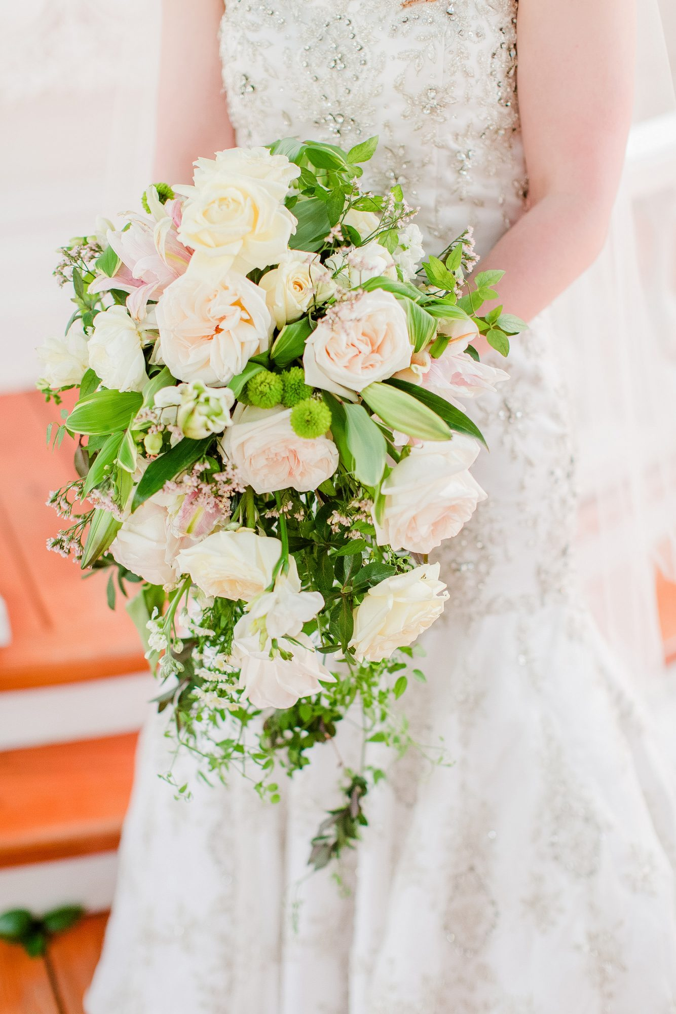 white yellow pink bouquet