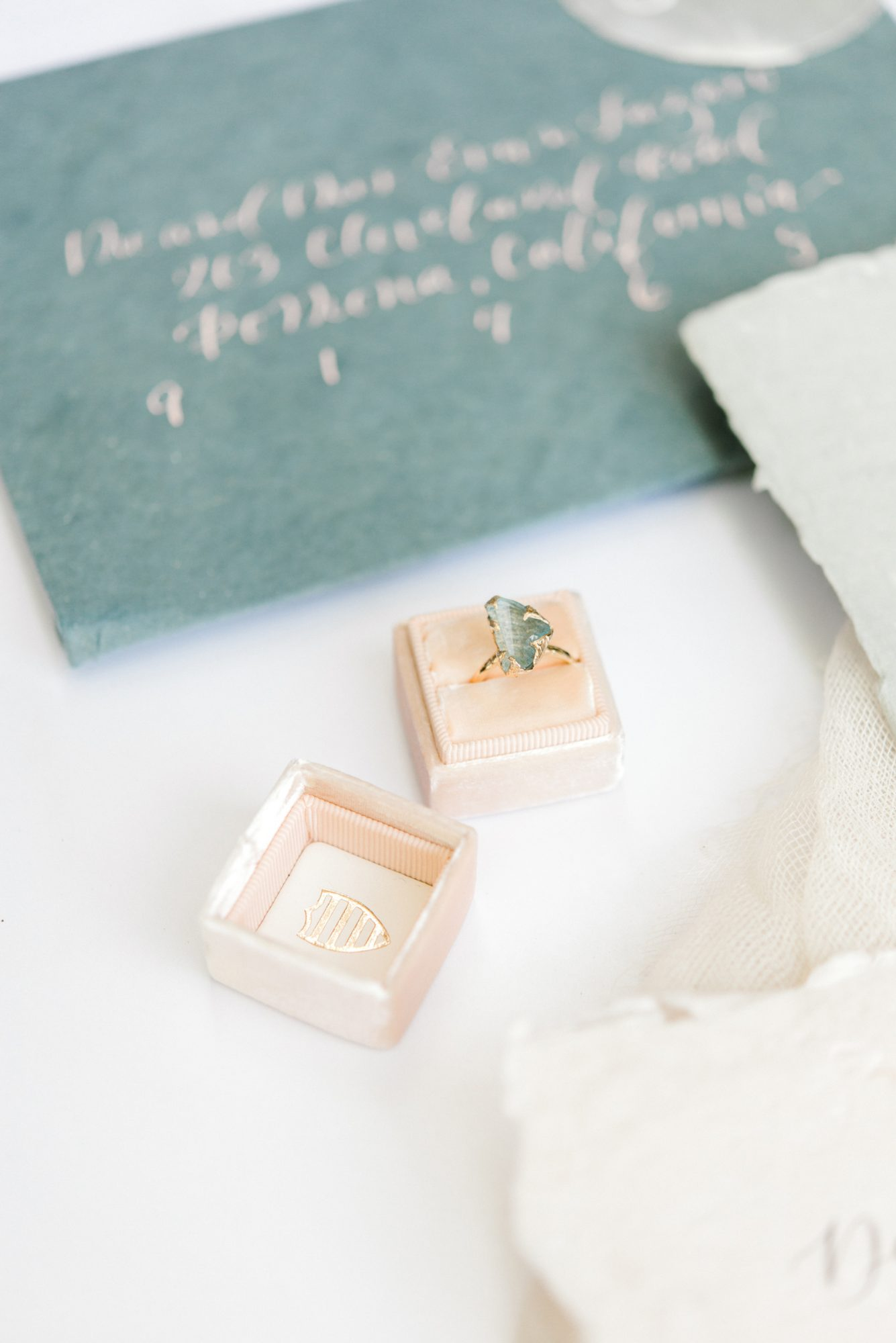 engagement rings aqua stone with a gold band