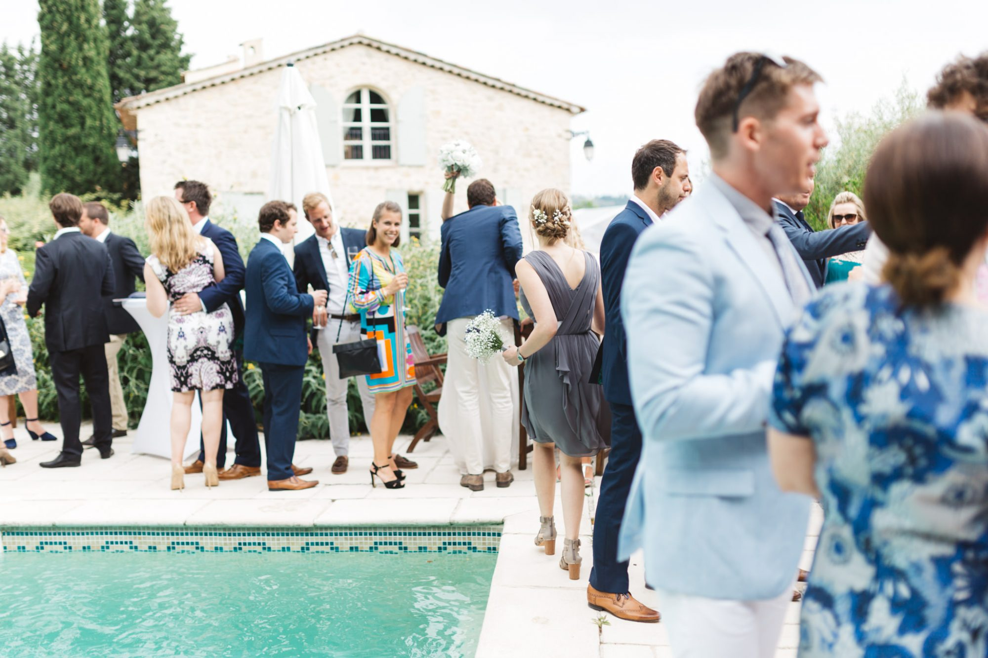 guests by pool