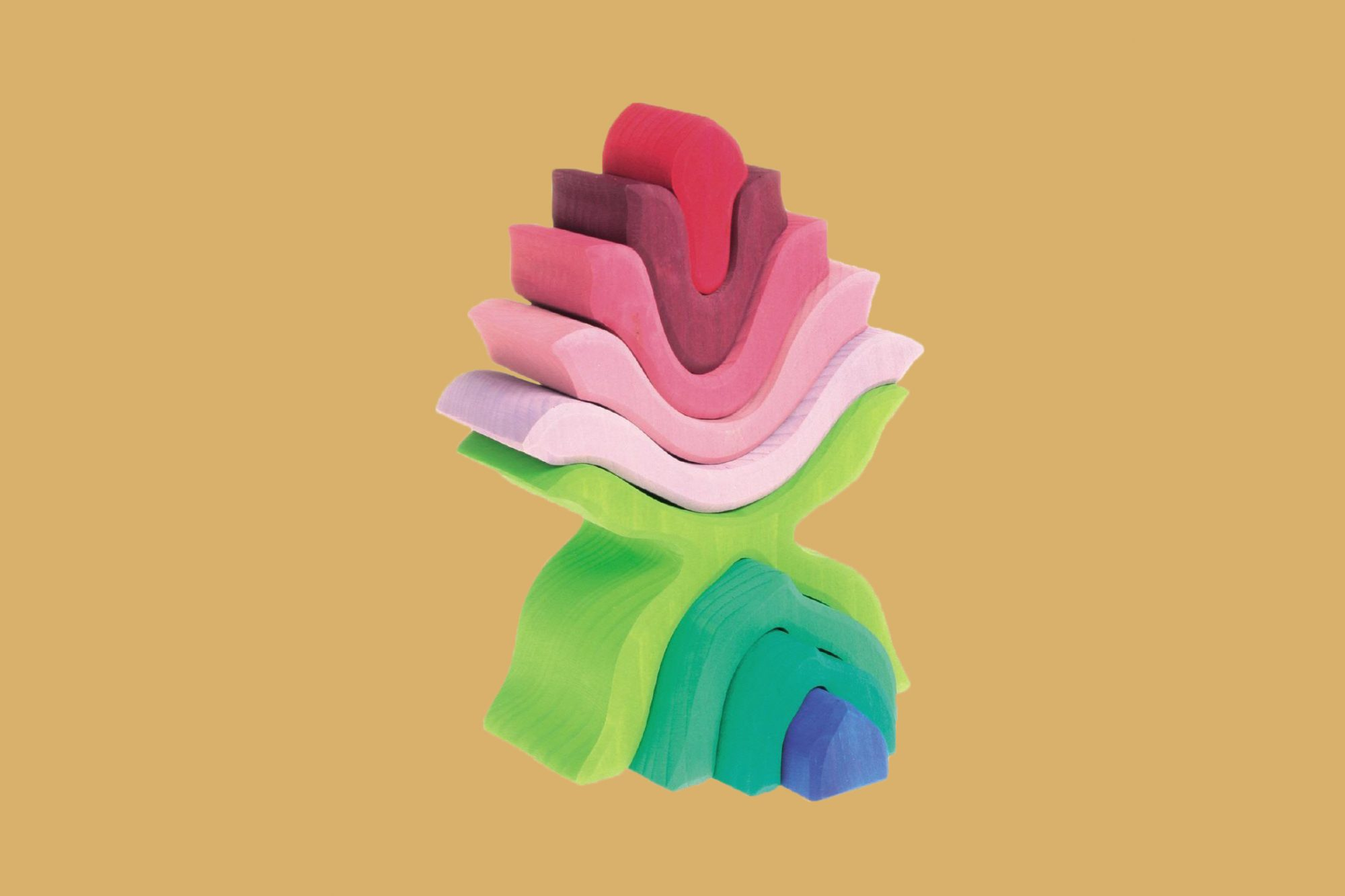 colorful three-dimensional flower puzzle