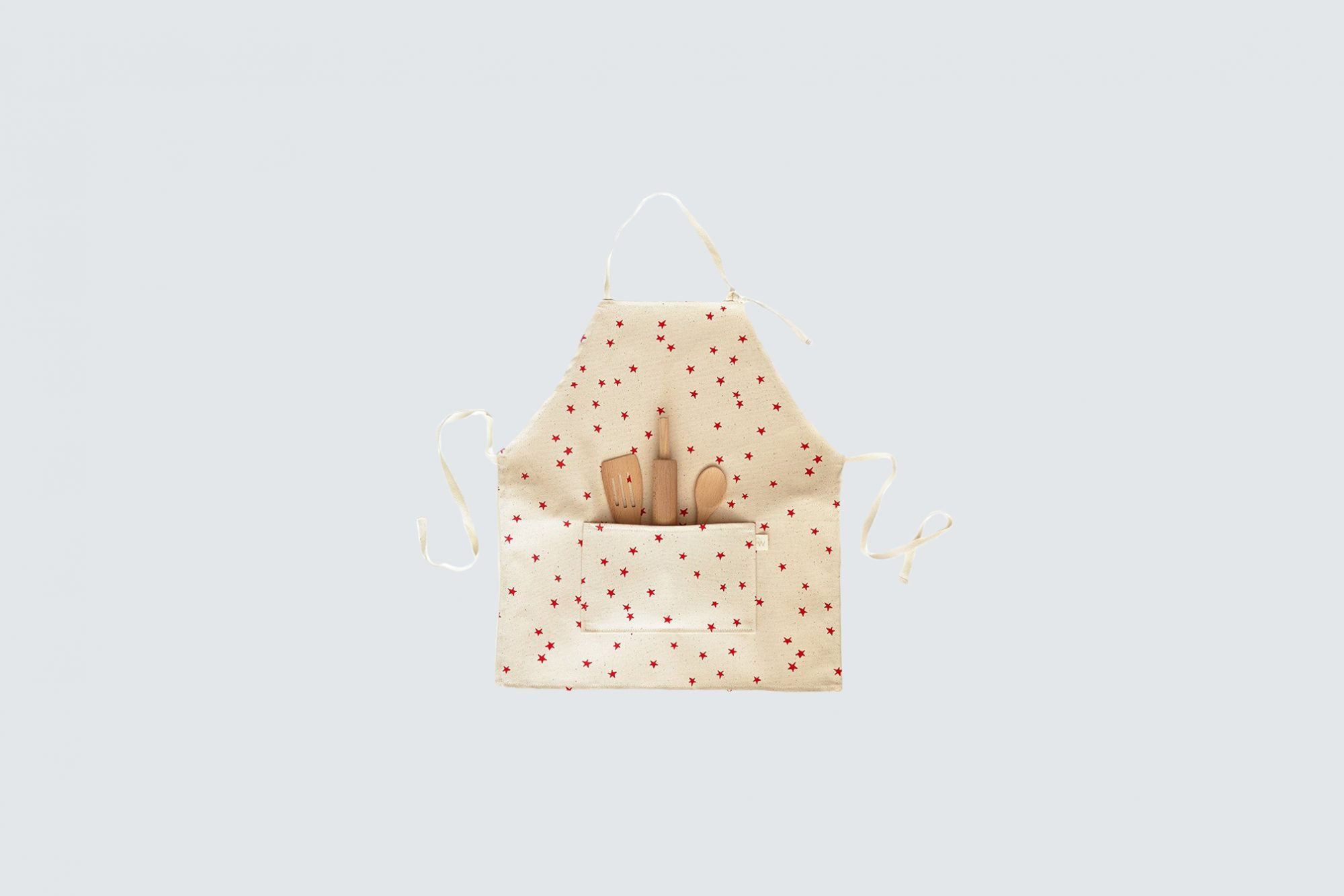 star-patterned childrens apron