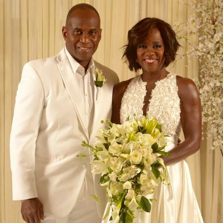 Viola Davis and Julius Tennon wedding photo