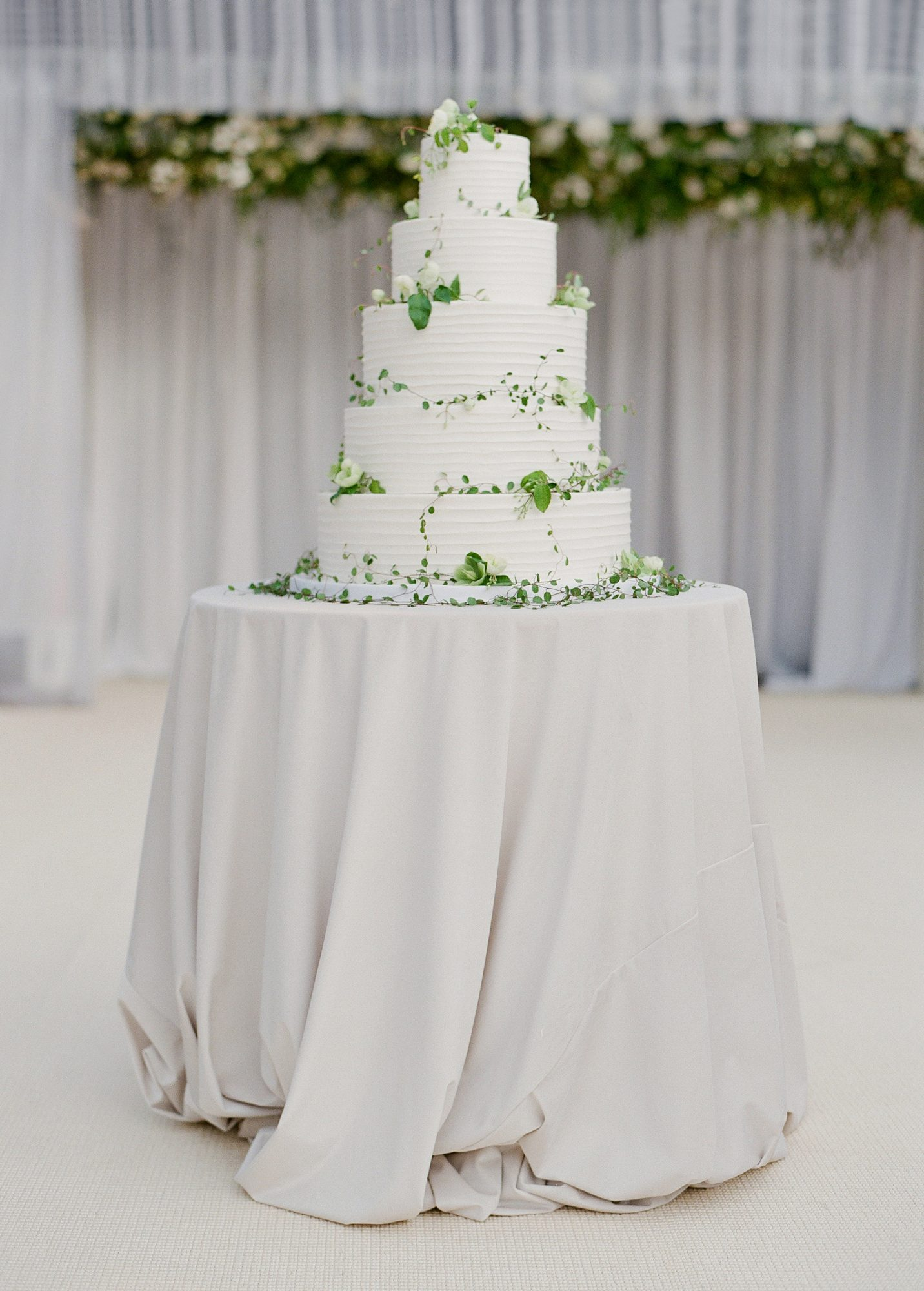 large white wedding cake