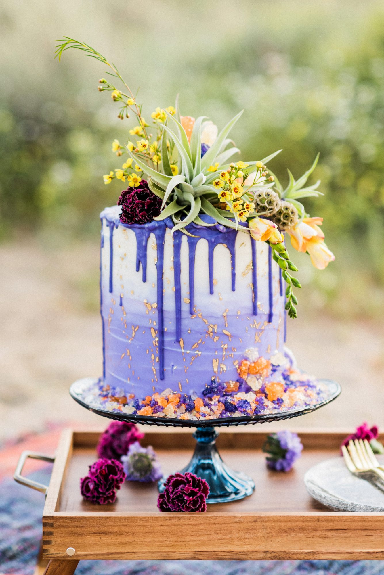 The Prettiest Ombr Eacute Wedding Cakes For Couples Who Love Color Martha Stewart