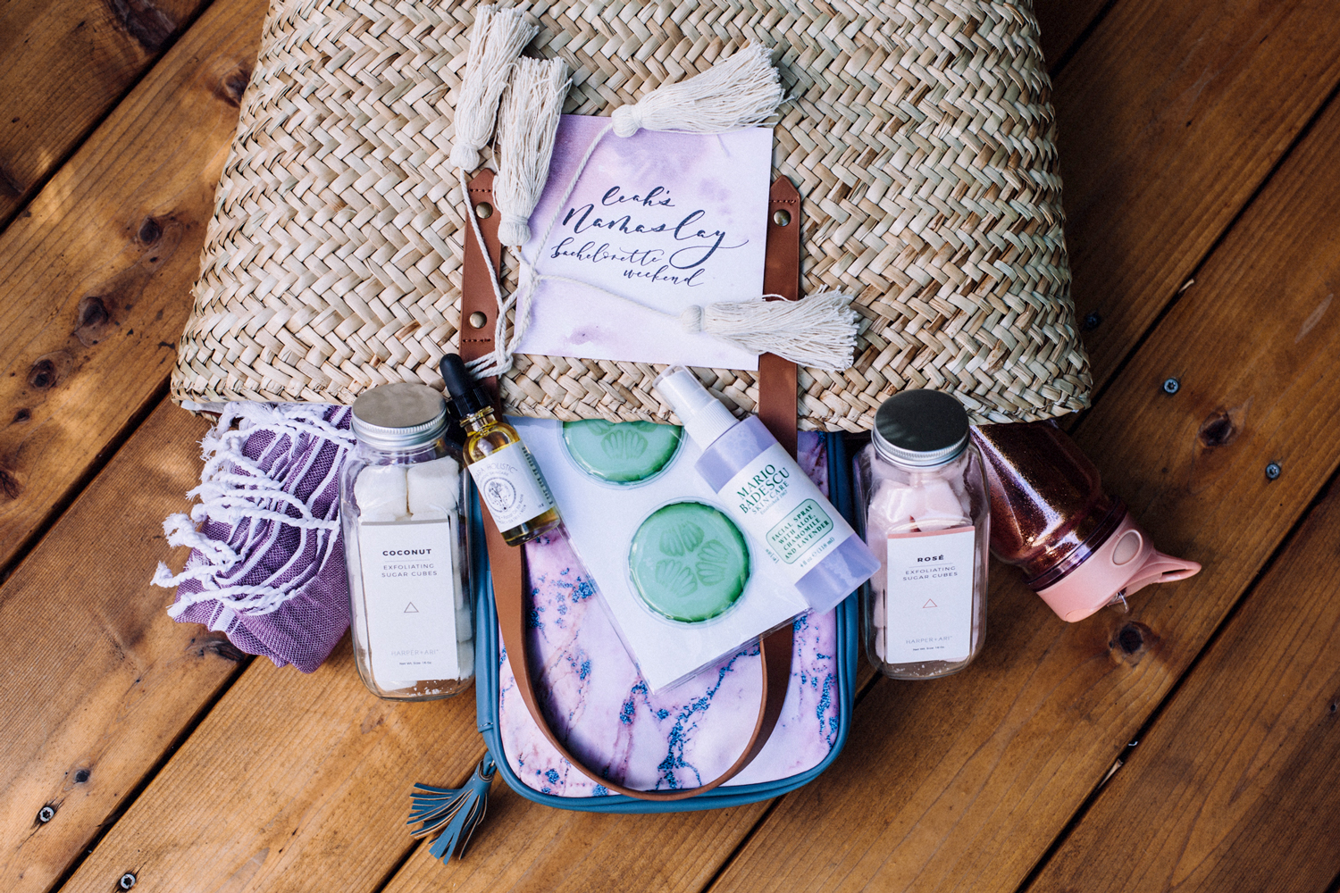 selfcare products bachelorette party favors