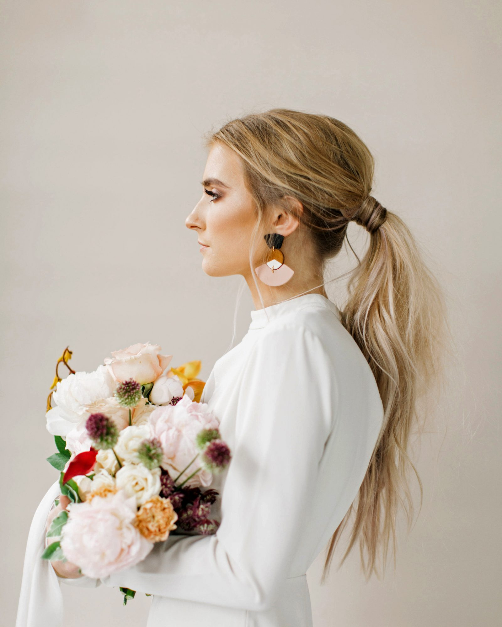 bridal ponytail wispy