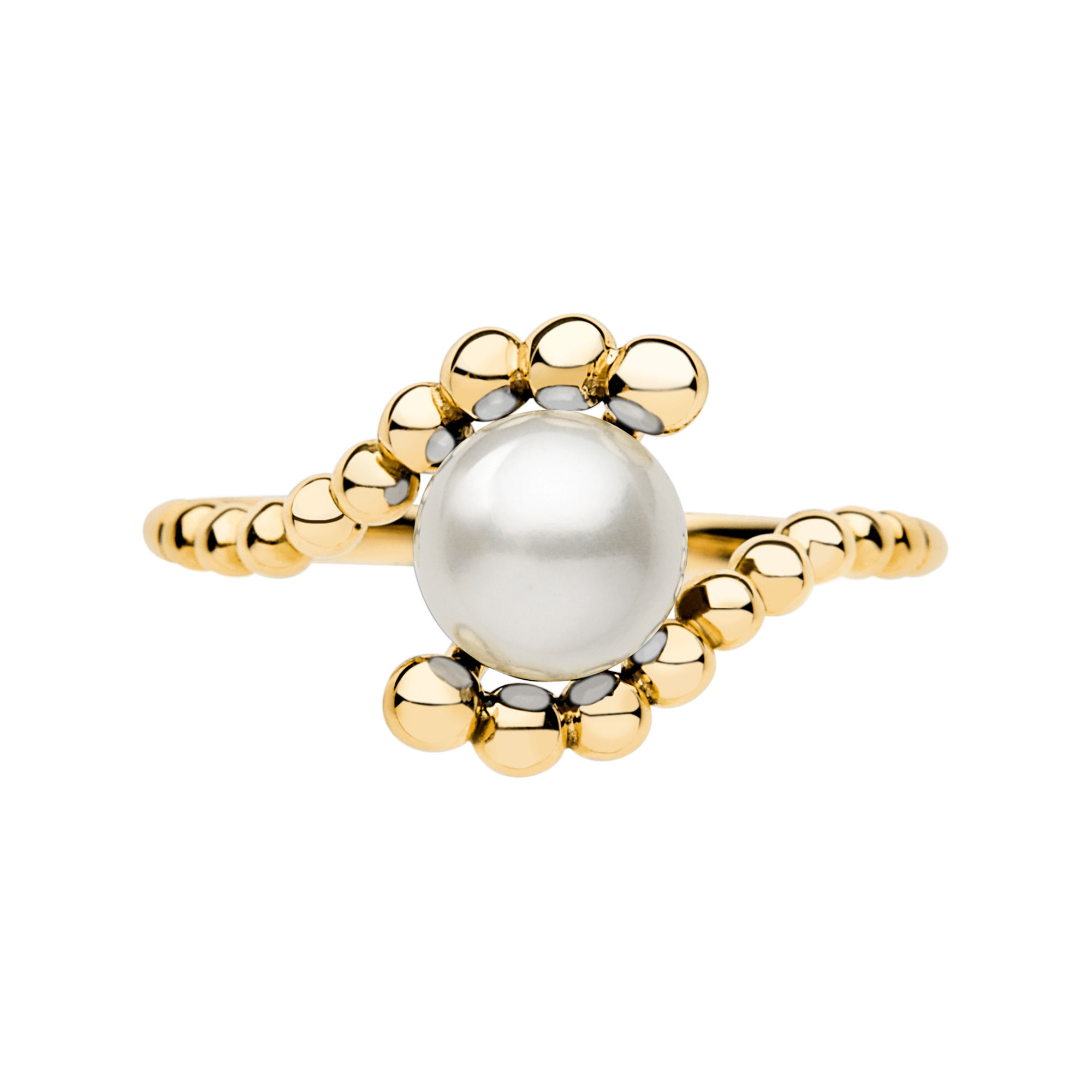 Links of London 18-Karat Yellow Gold and White Freshwater Pearl Ring