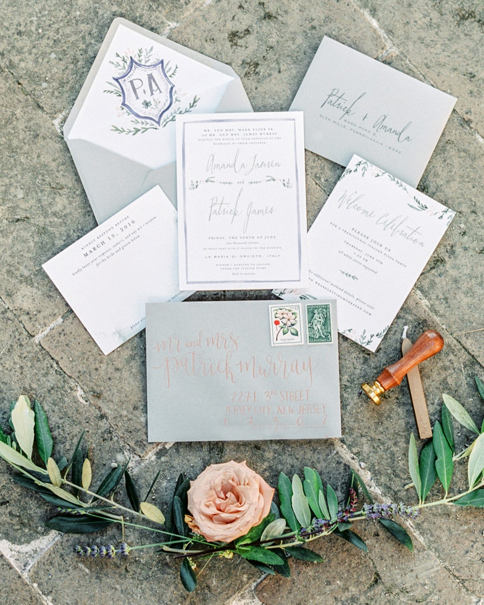 amanda patrick wedding invite