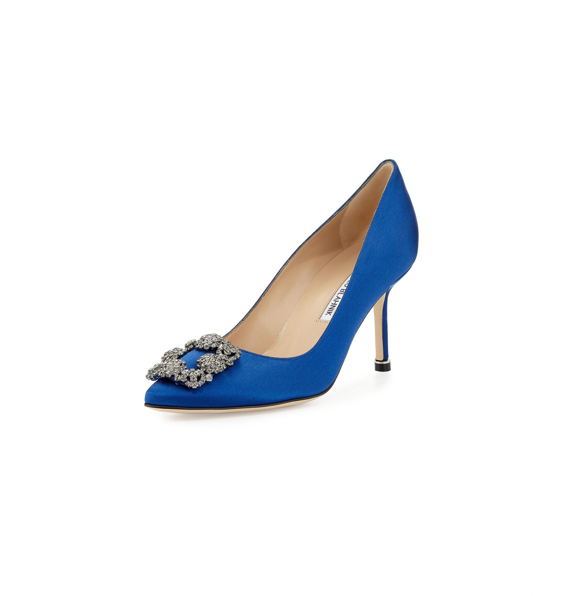 "Manolo Blahnik ""Hangisi"" Satin Pumps"