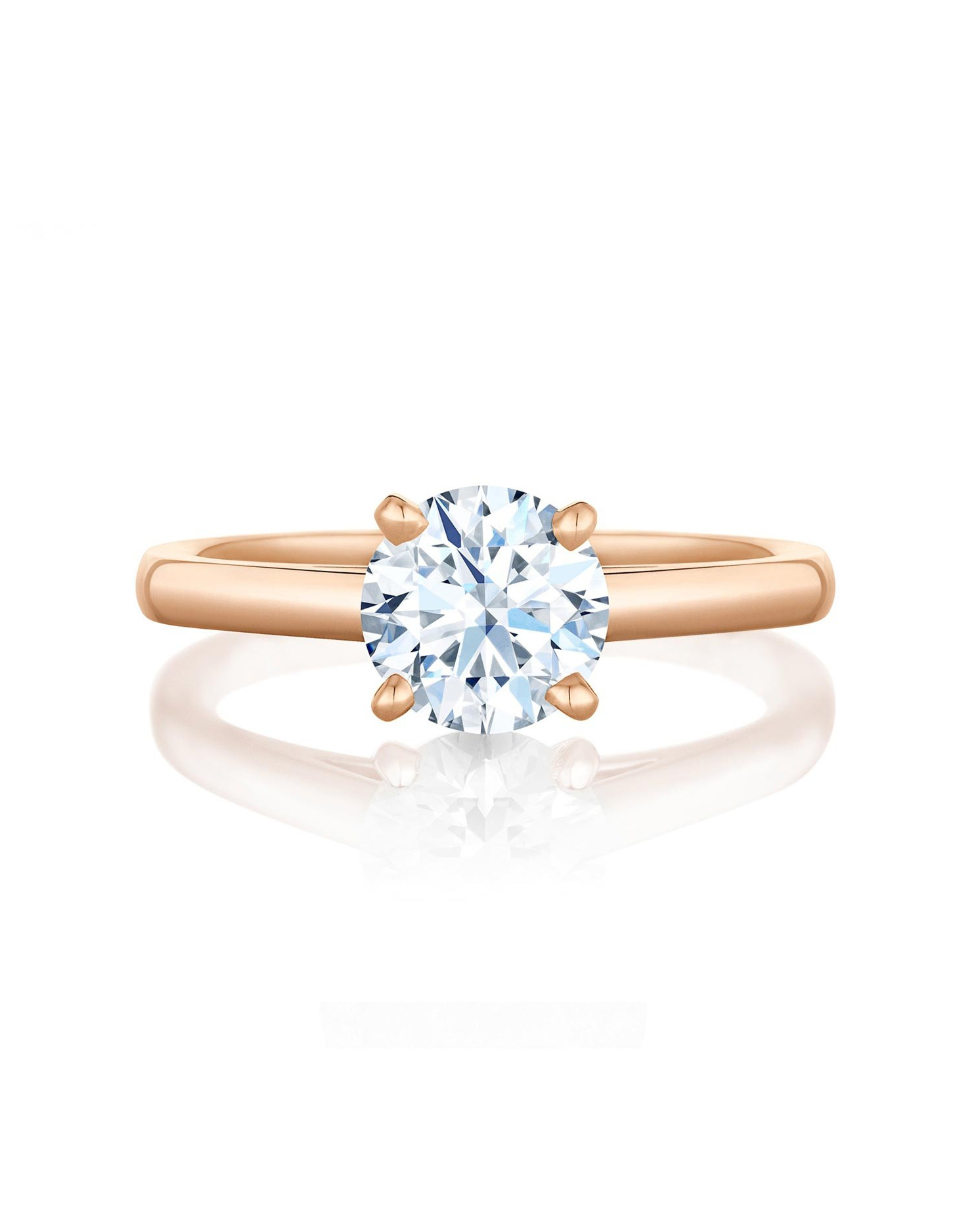 Rose Gold Solitaire Diamond Ring