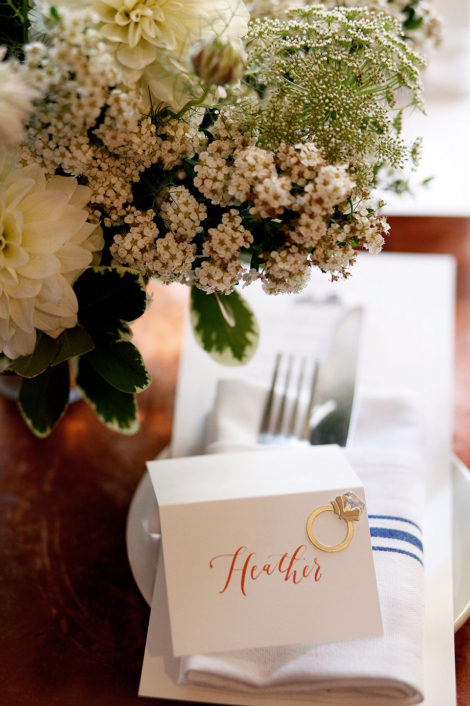 bridal shower placesetting