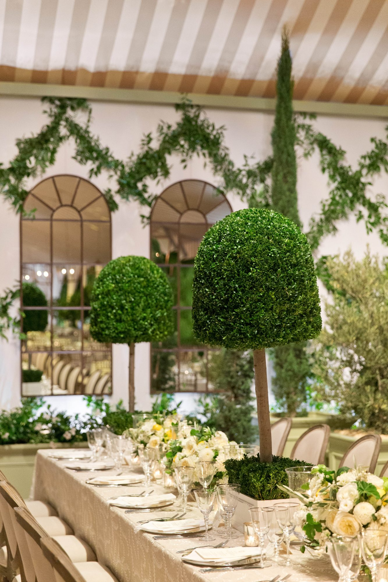cass heath wedding topiaries