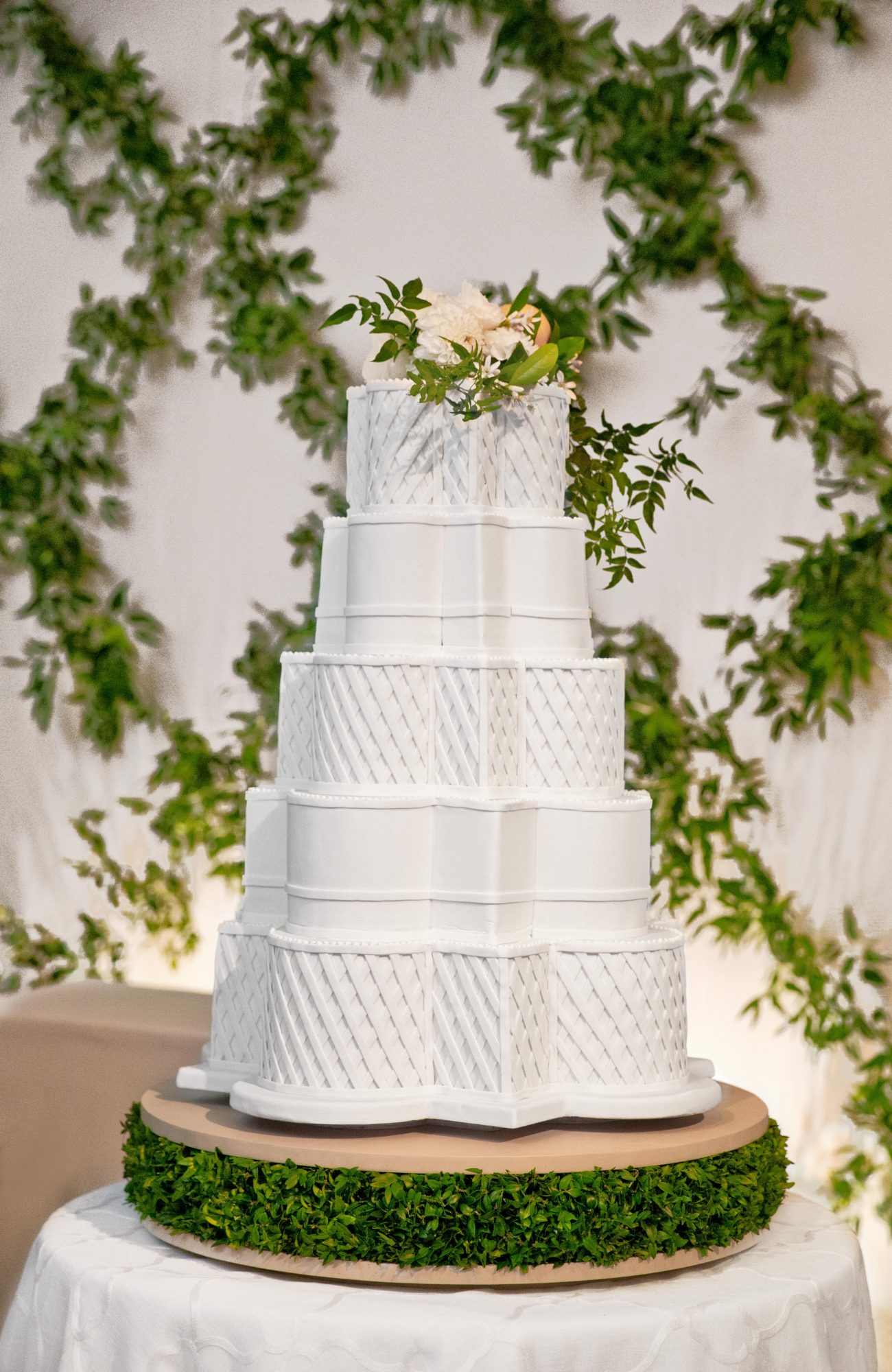 An Elegant, All-White Cake