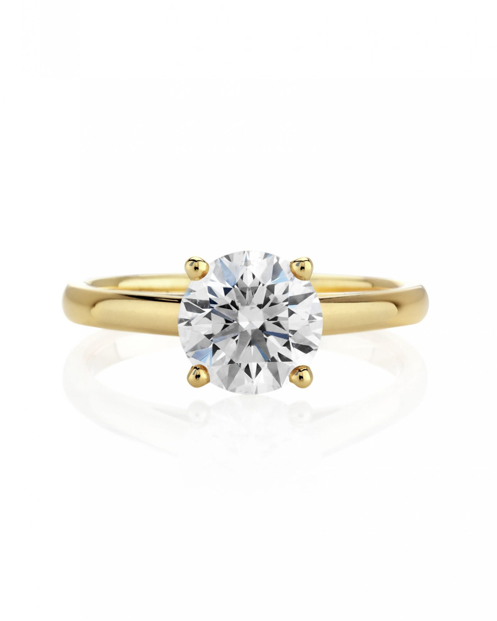 Classic Solitaire Yellow Gold Ring