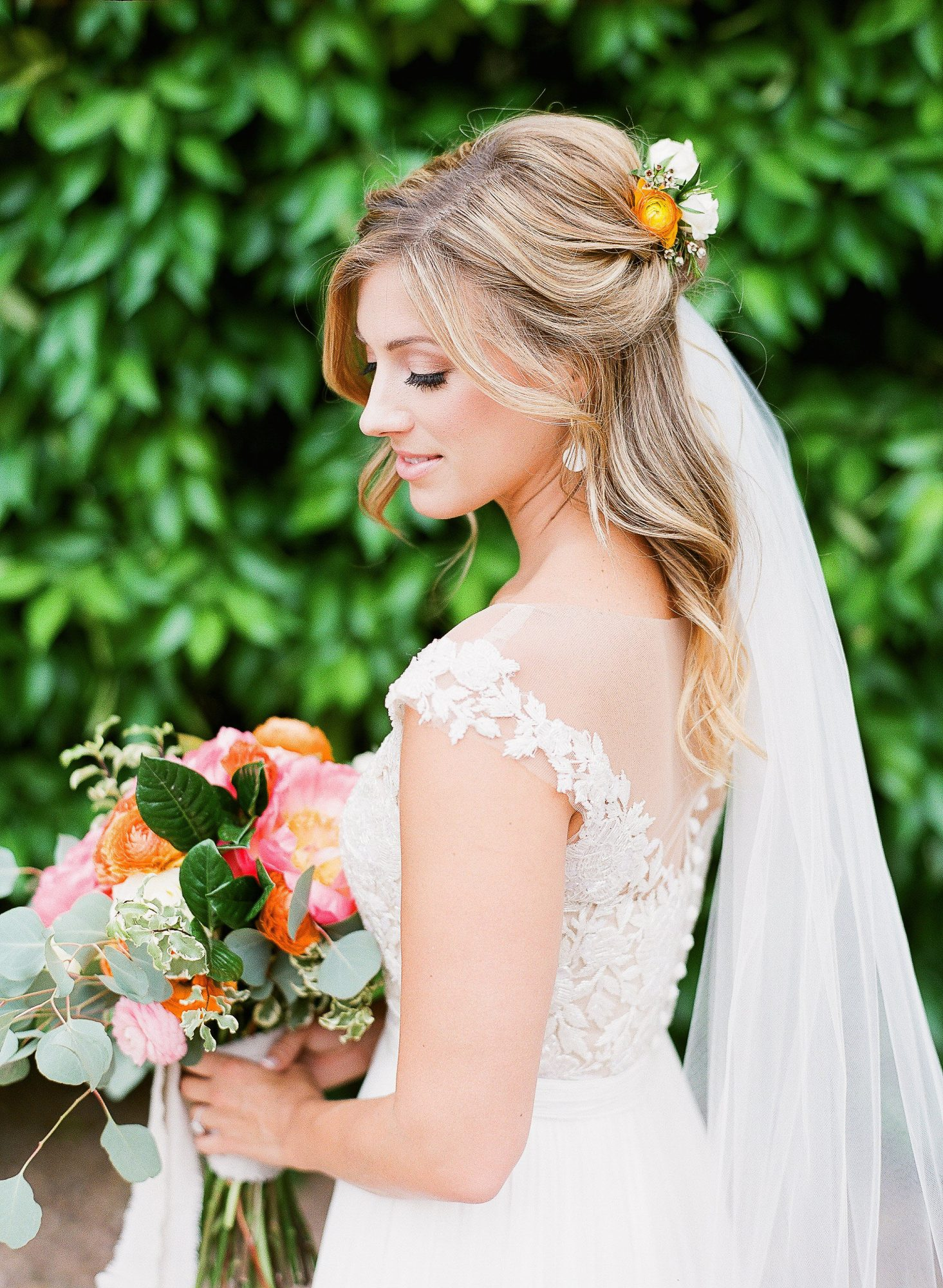 aubrey austin wedding bride hair