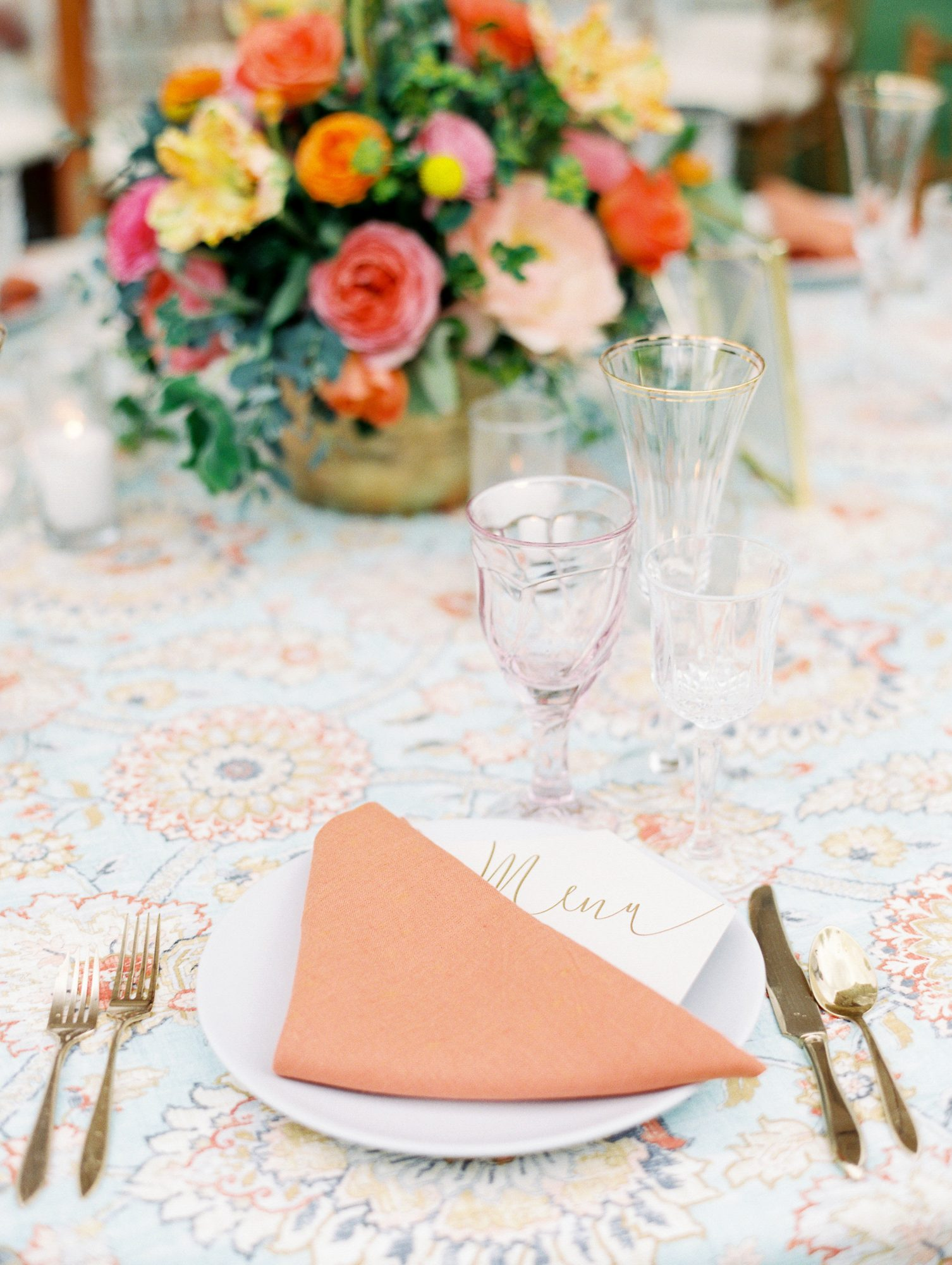 aubrey austin wedding place setting