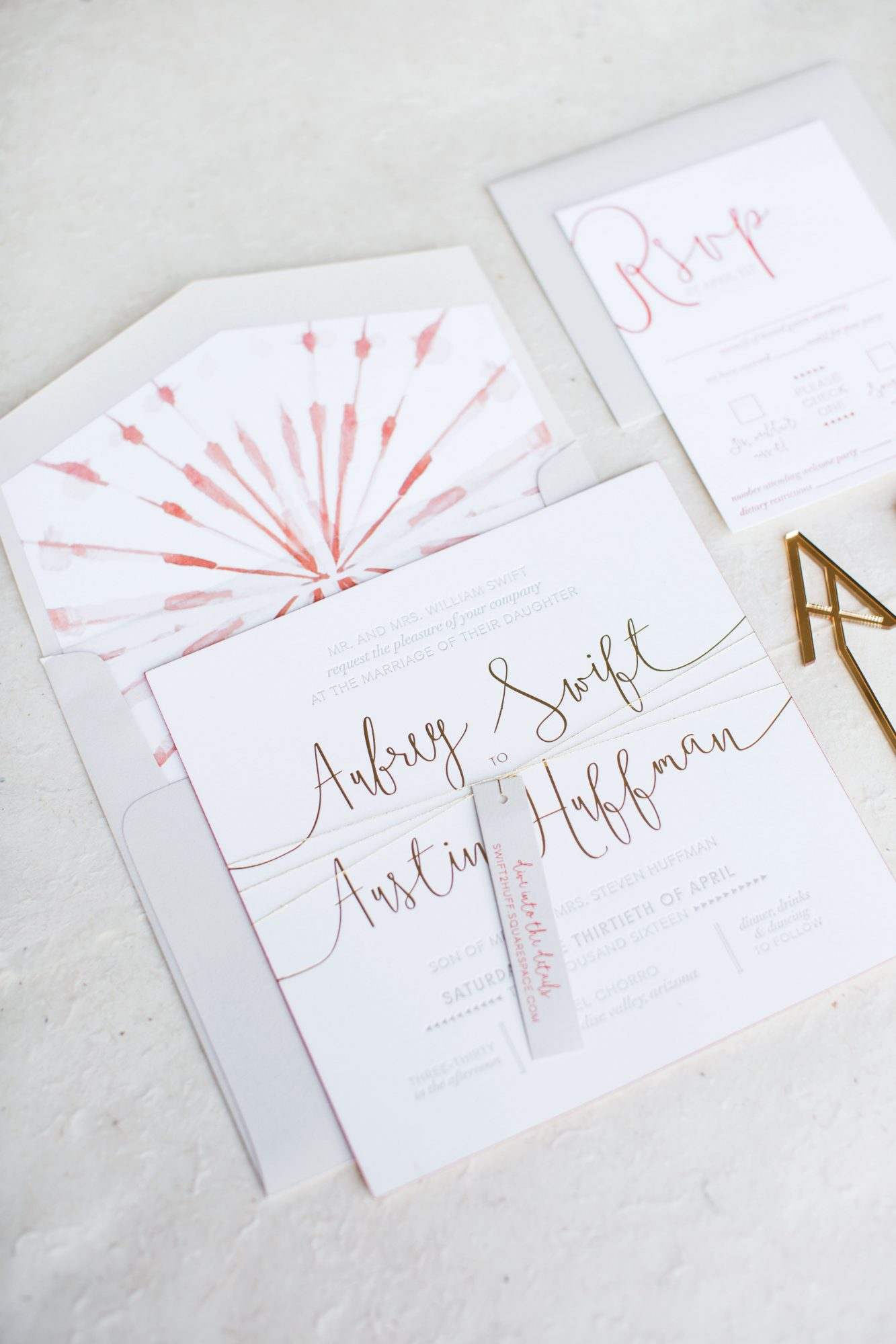 aubrey austin wedding stationery