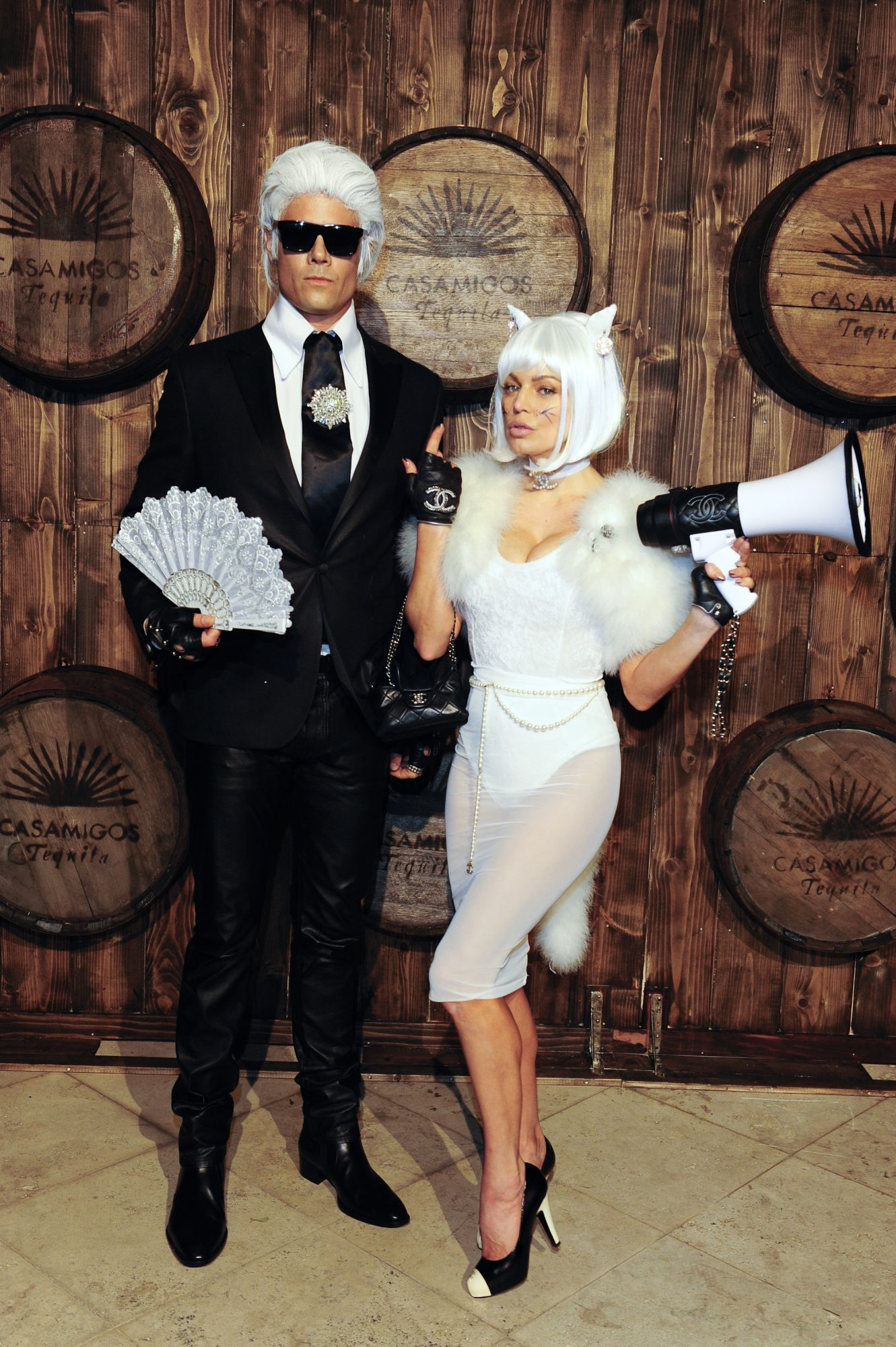 Chrissy Teigen and John Legend in Cleopatra and Gladiator Halloween Costumes