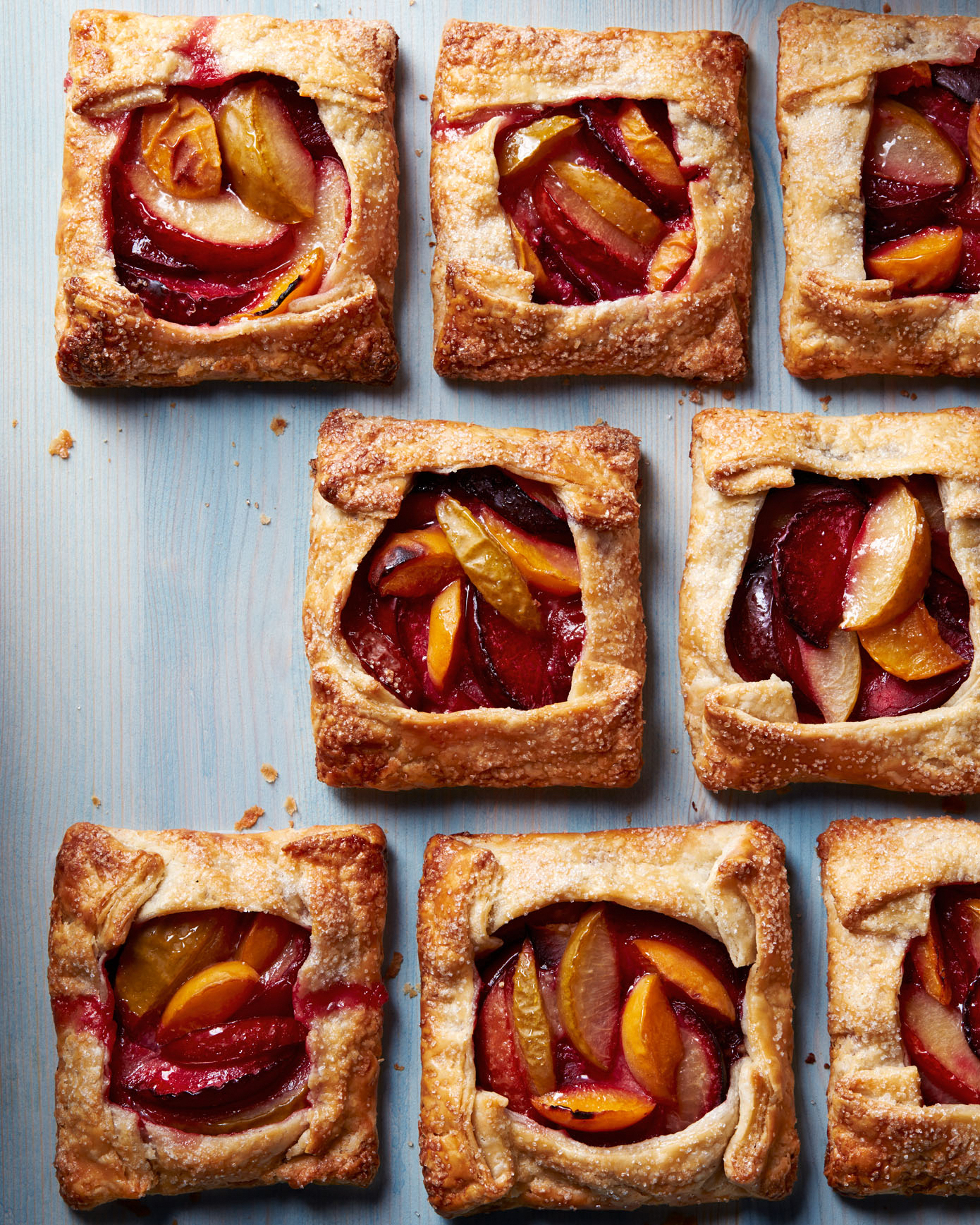 Individual Plum and Almond Galettes
