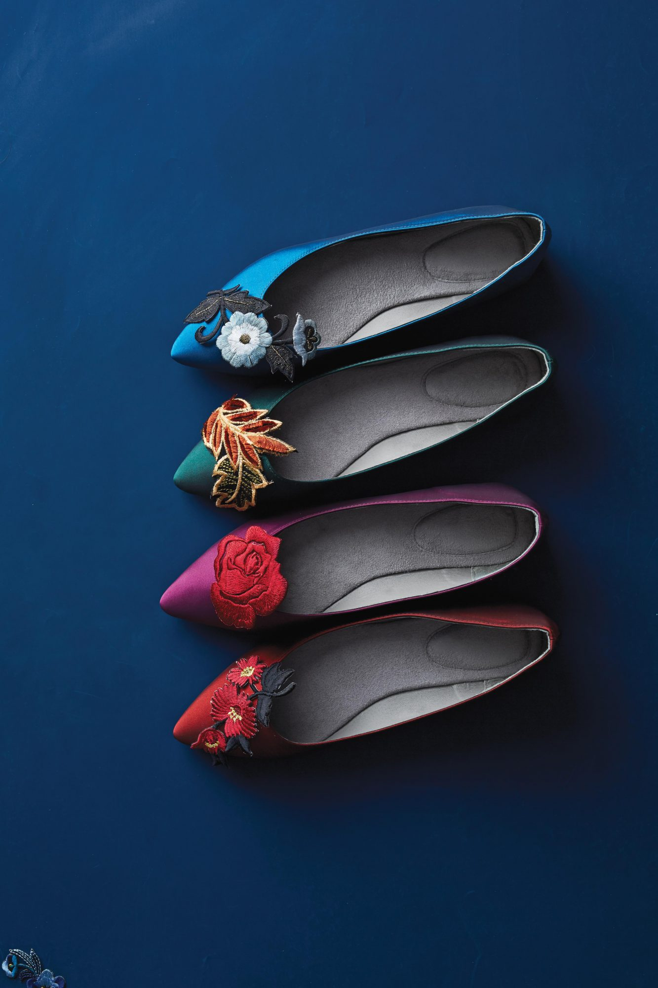 Give your girls the gift of comfortable dancing feet with these chic appliqué ballet flats. Of course, they're cute enough to wear way past the reception.