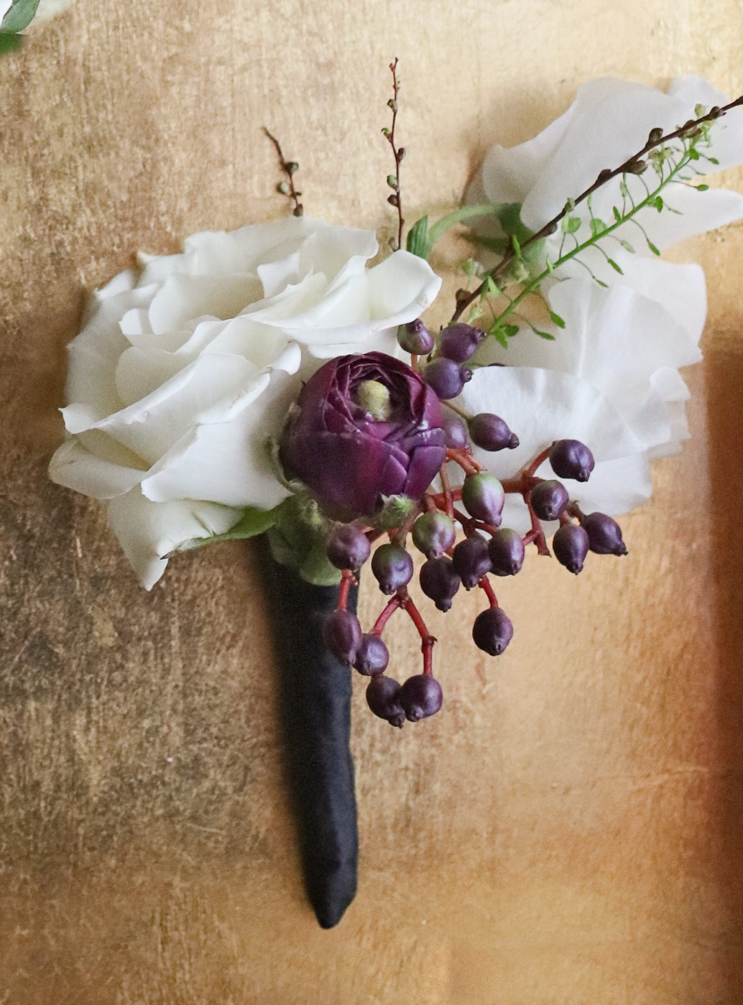 New Years Eve Wedding boutonnieres