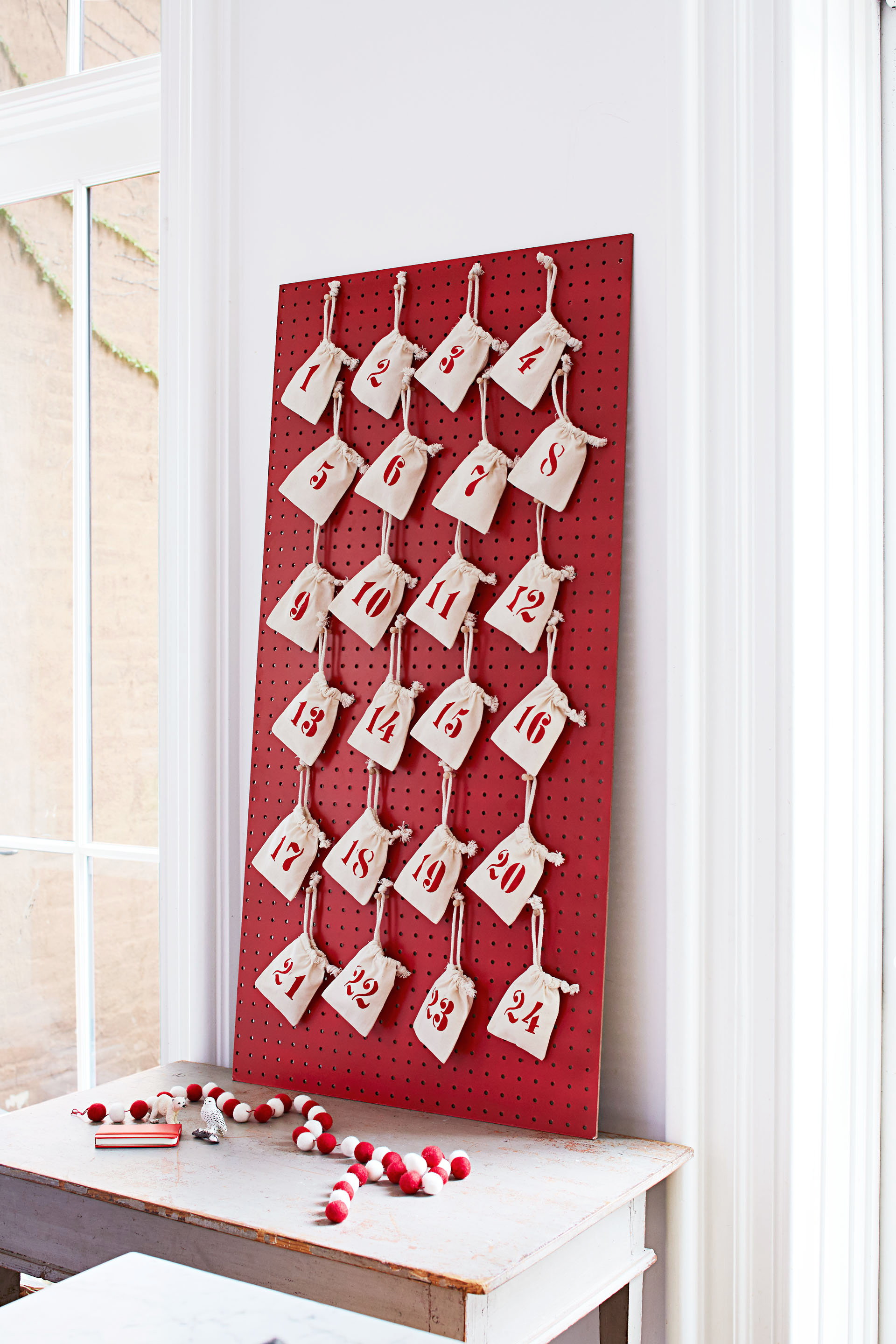 Pegboard Advent Calendar