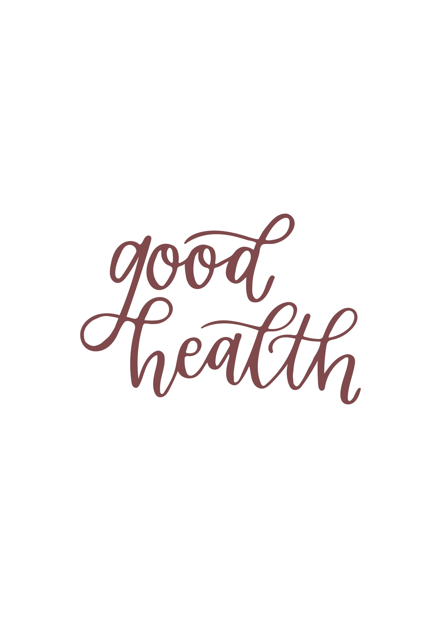 good health in calligraphy