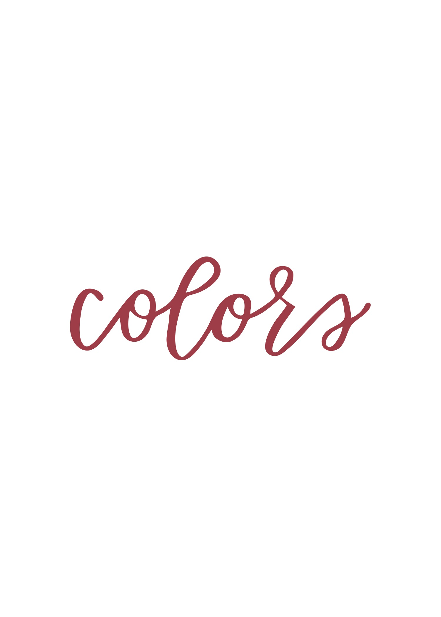 """colors"" in calligraphy"