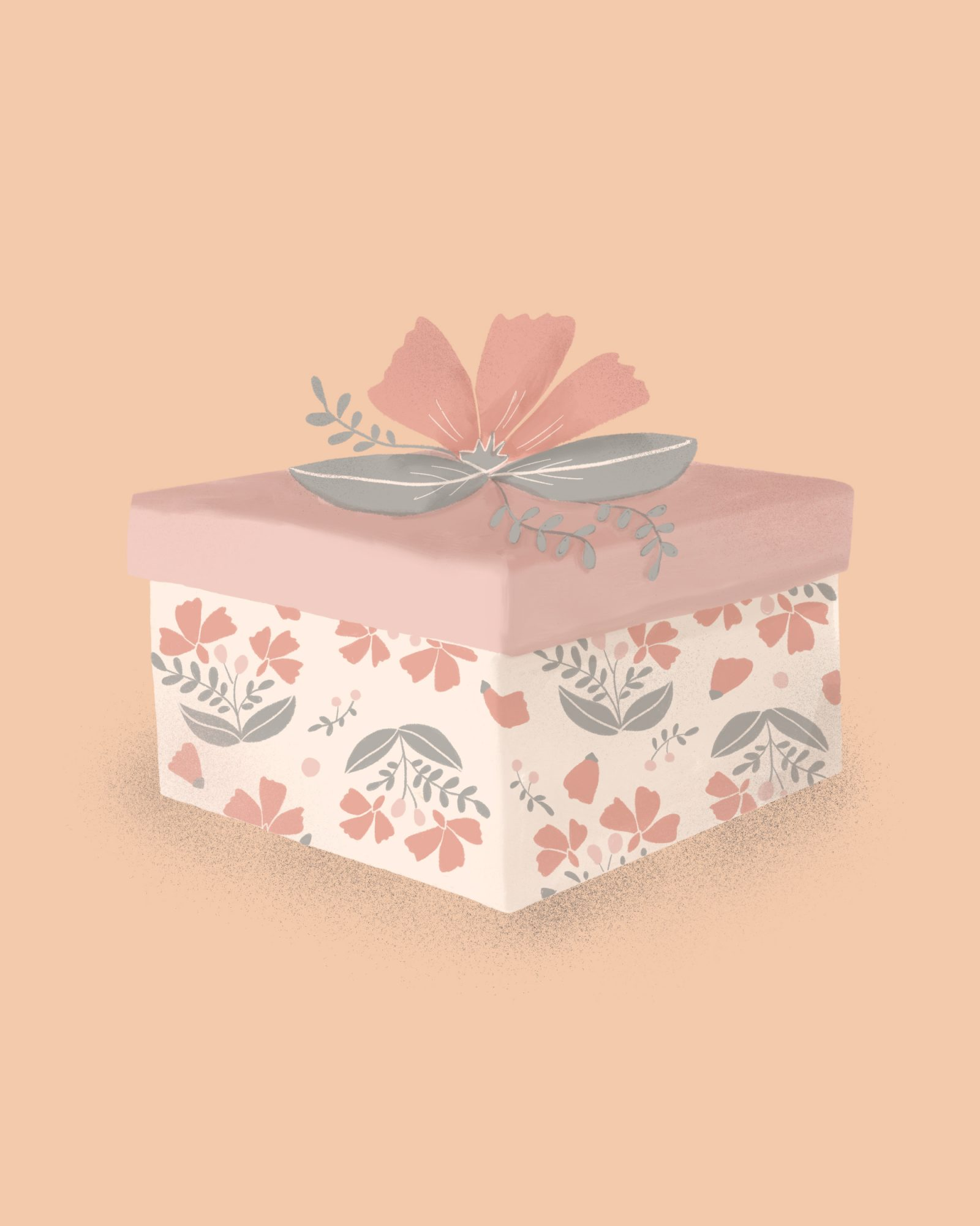 Bride Gift Guide, Illustrated Gift Box