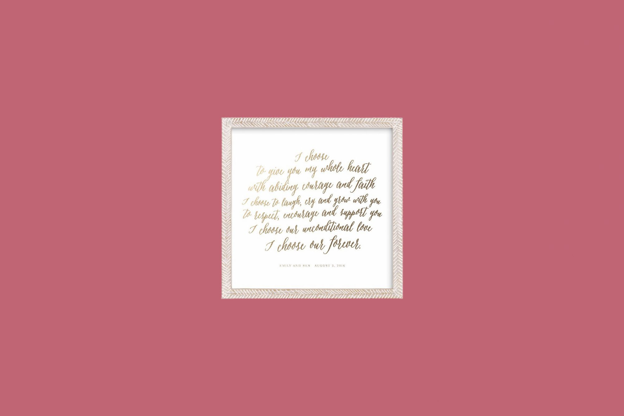 bride gift minted frame vows