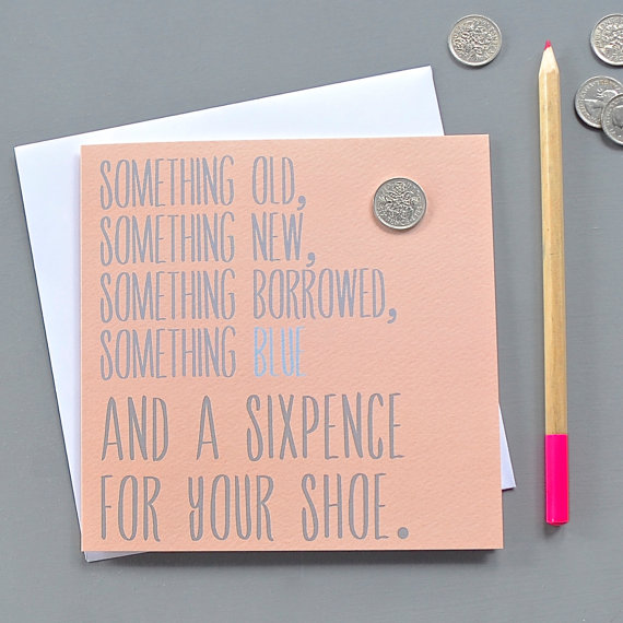 Sixpence Wedding Card