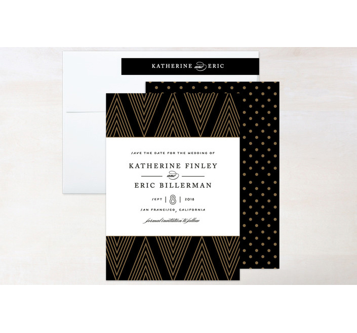 save the dates minted graphic patterns