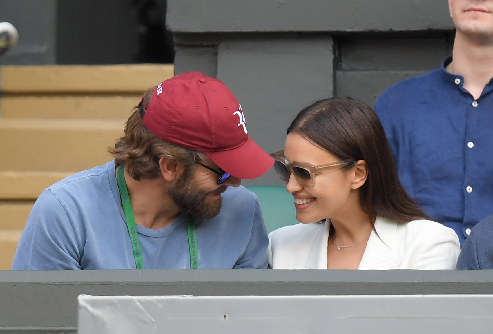 Bradley Cooper and Irina Shayk at a Wimbledon tennis game