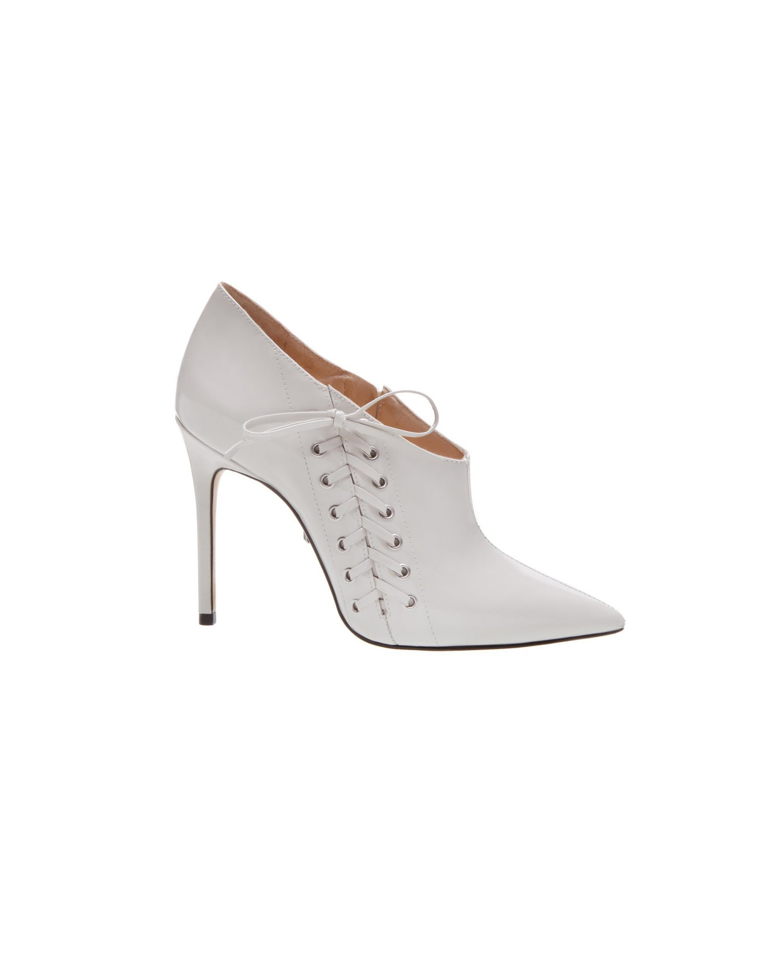 gray lace-up bridal booties schutz iliana ankle boots