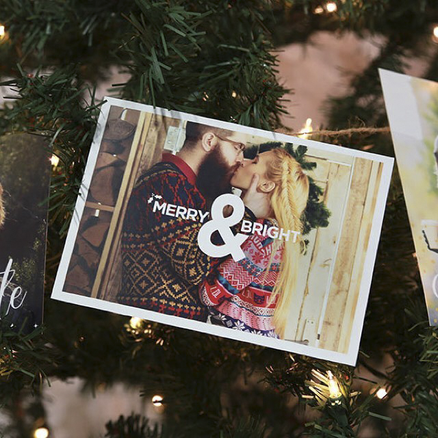 newlywed holiday card christmas sweaters
