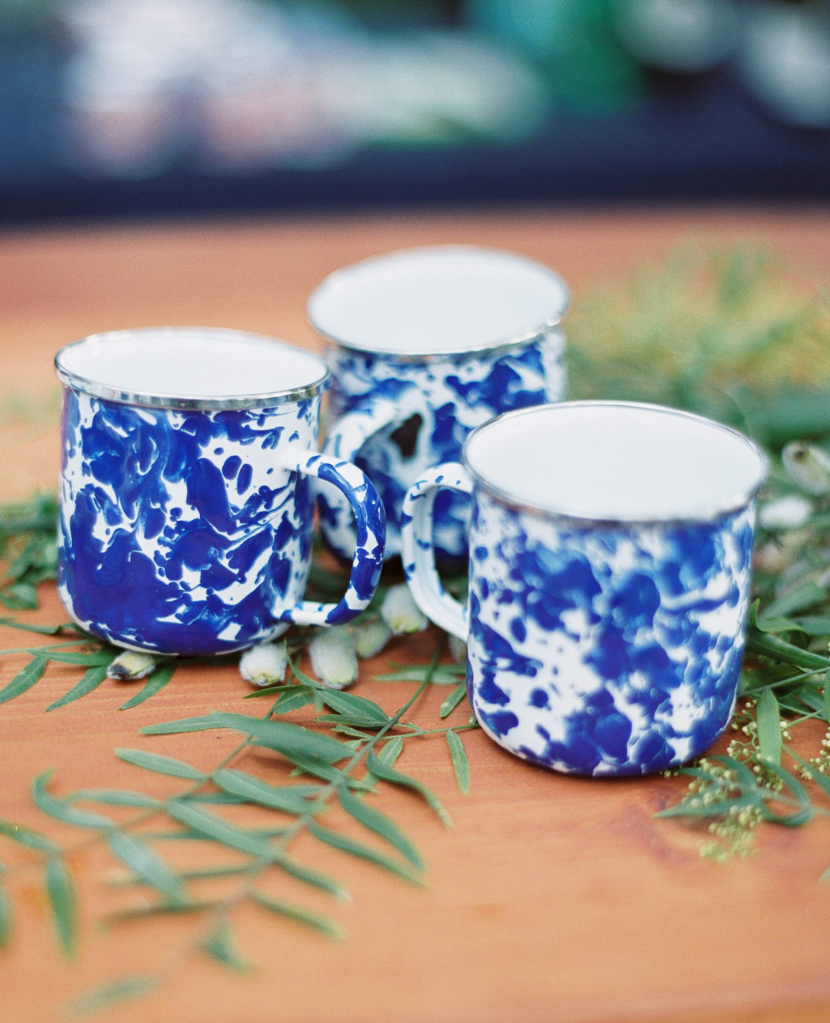 blue marbled mugs