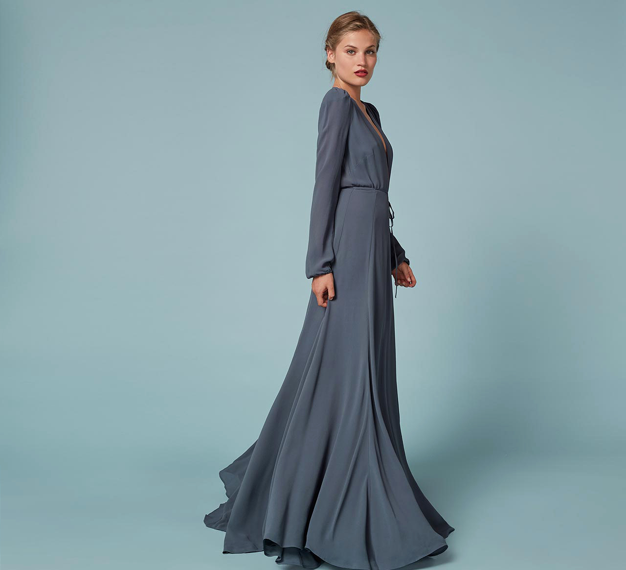 winter bridesmaid dress reformation thea stone