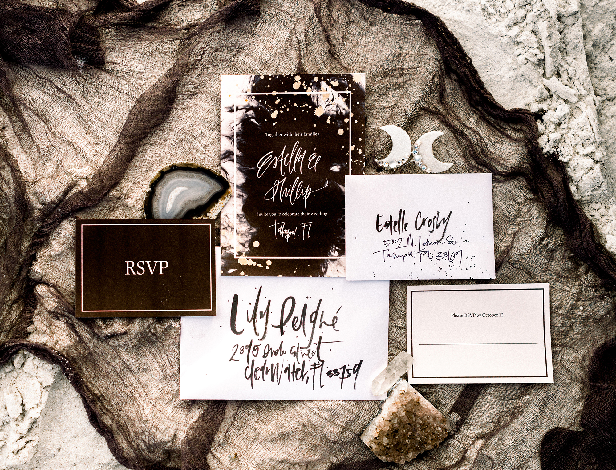 Celestial Wedding Stationary