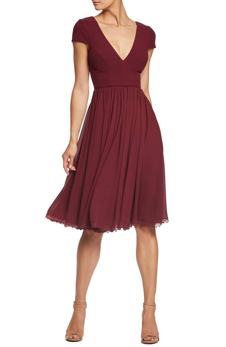Red Bridesmaid Dress from Dress the Population